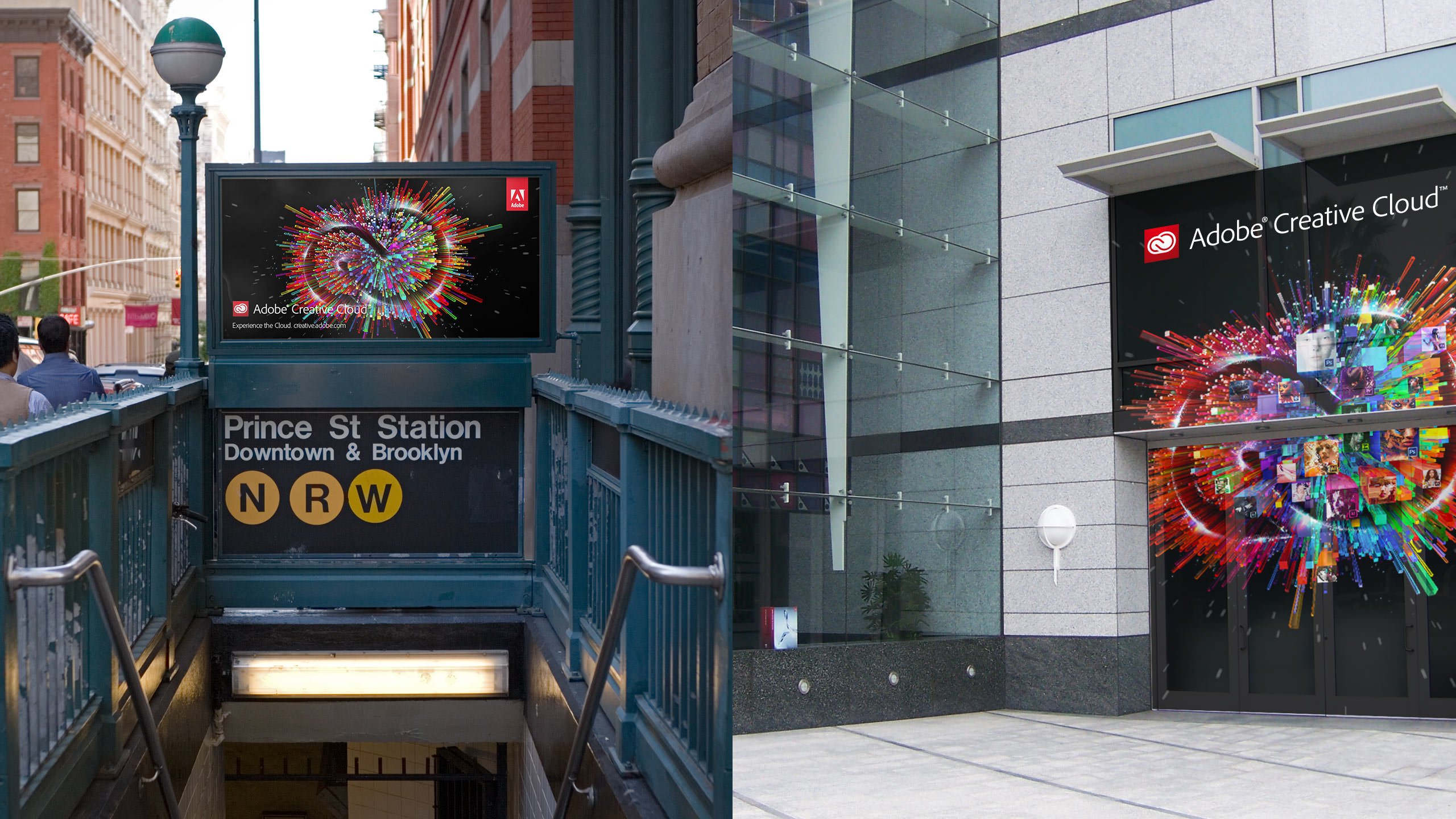 Adobe Creative Cloud 2013 Identity on Subway and Office Campaign