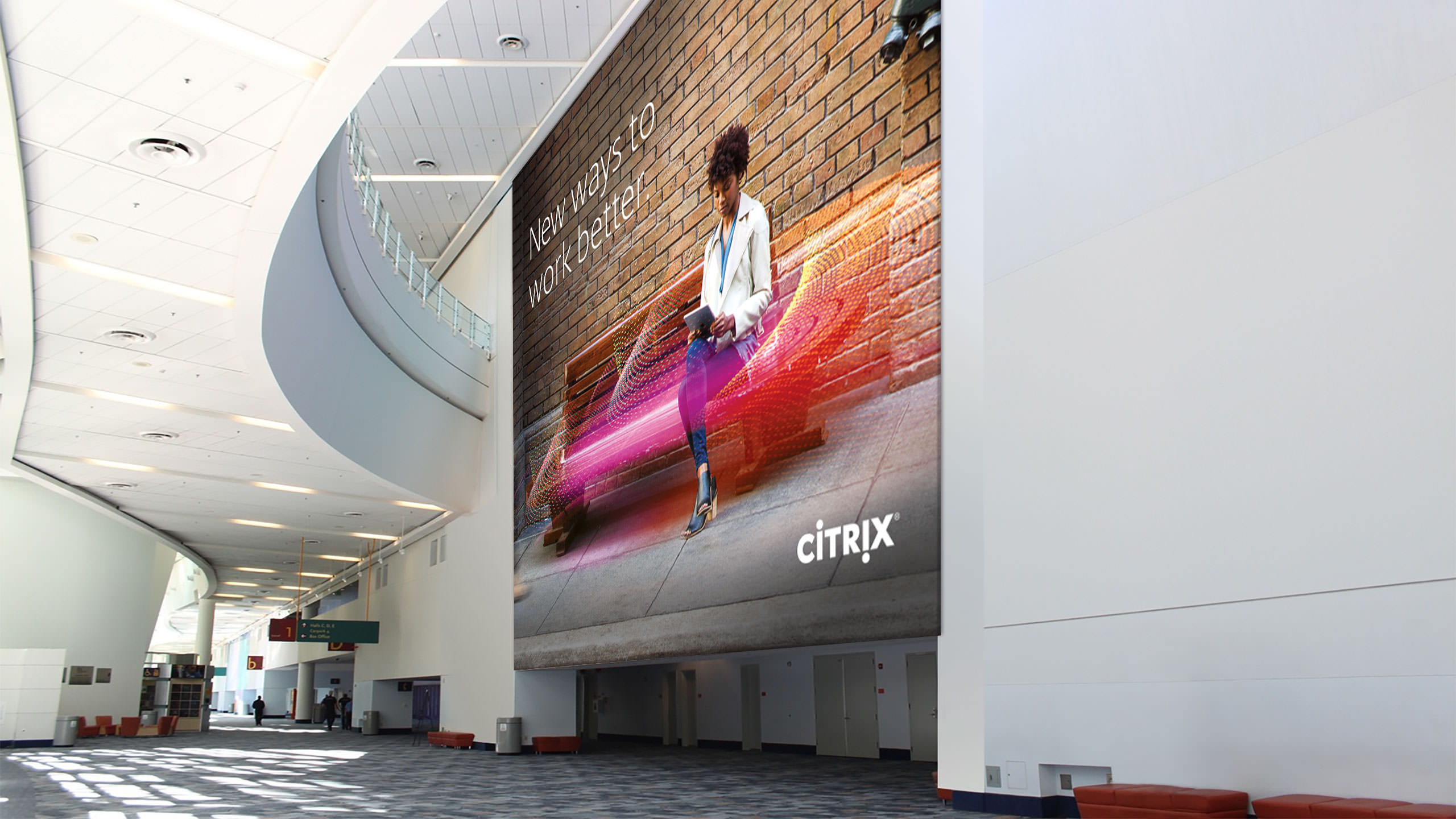 Citrix Brand Campaign displayed in a convention hall