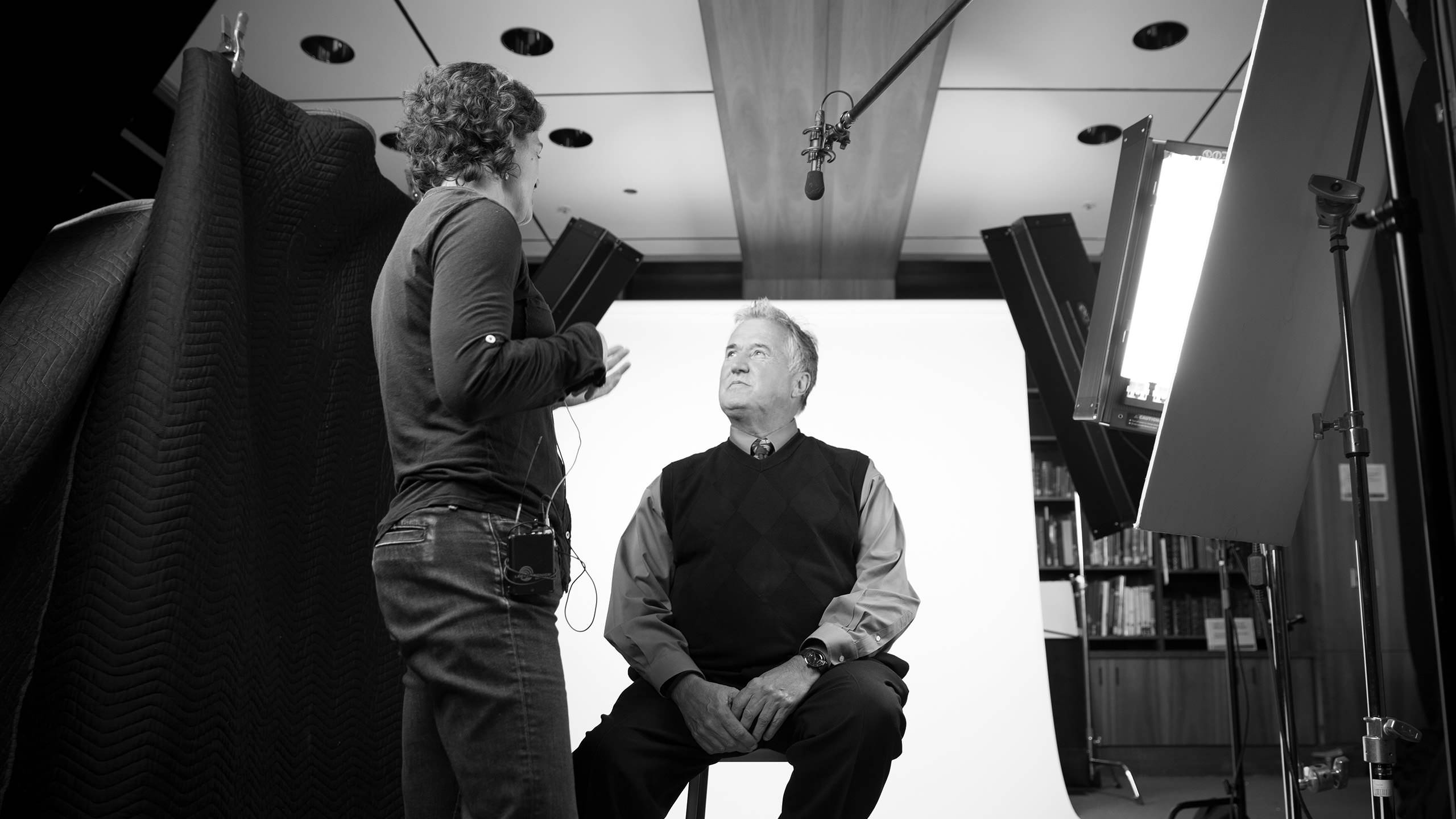 Robert Mansfield on set for the One UCSF Video Campaign
