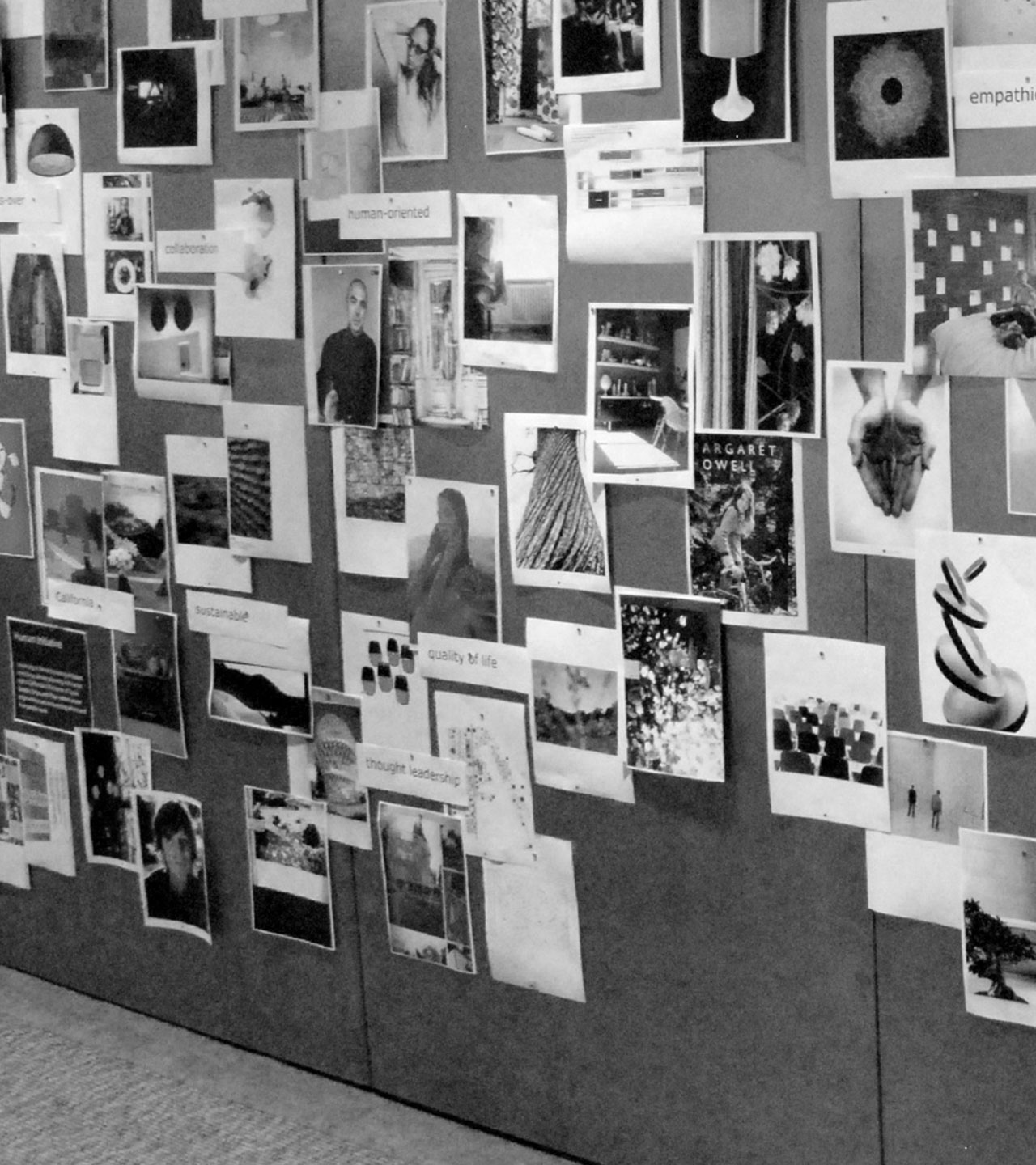 Coalesse Brand Launch Exploration Wall at Tolleson