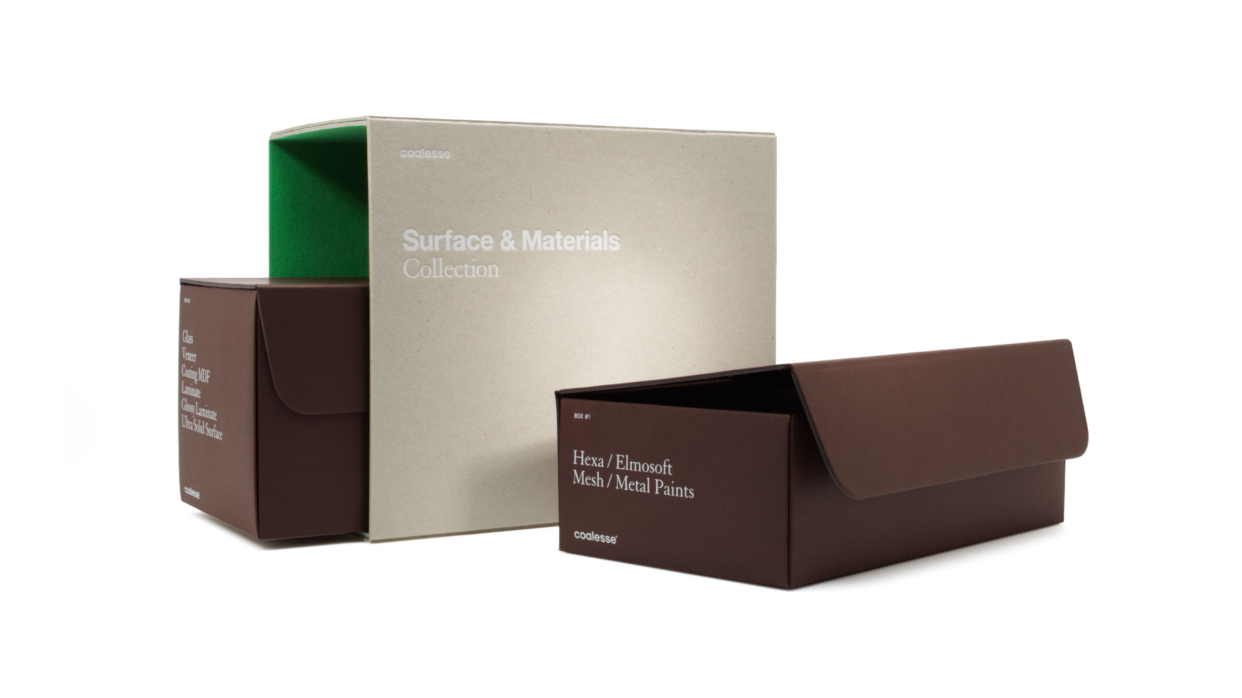Coalesse Brand Launch Packaging with Slip Case Boxes