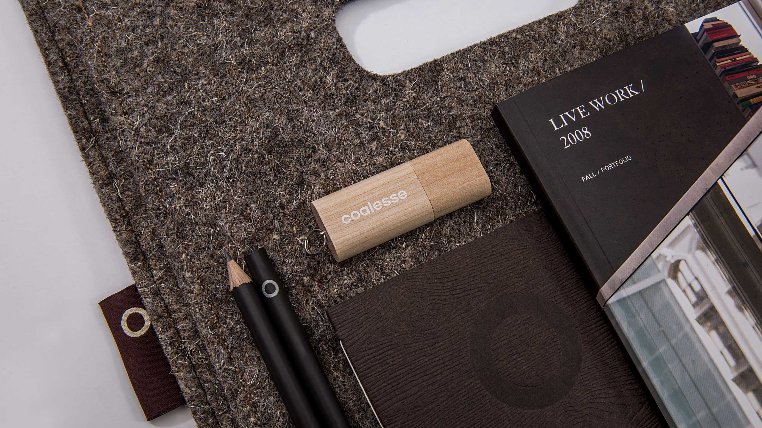 Coalesse Brand Launch Promotion Items with Felt Bag