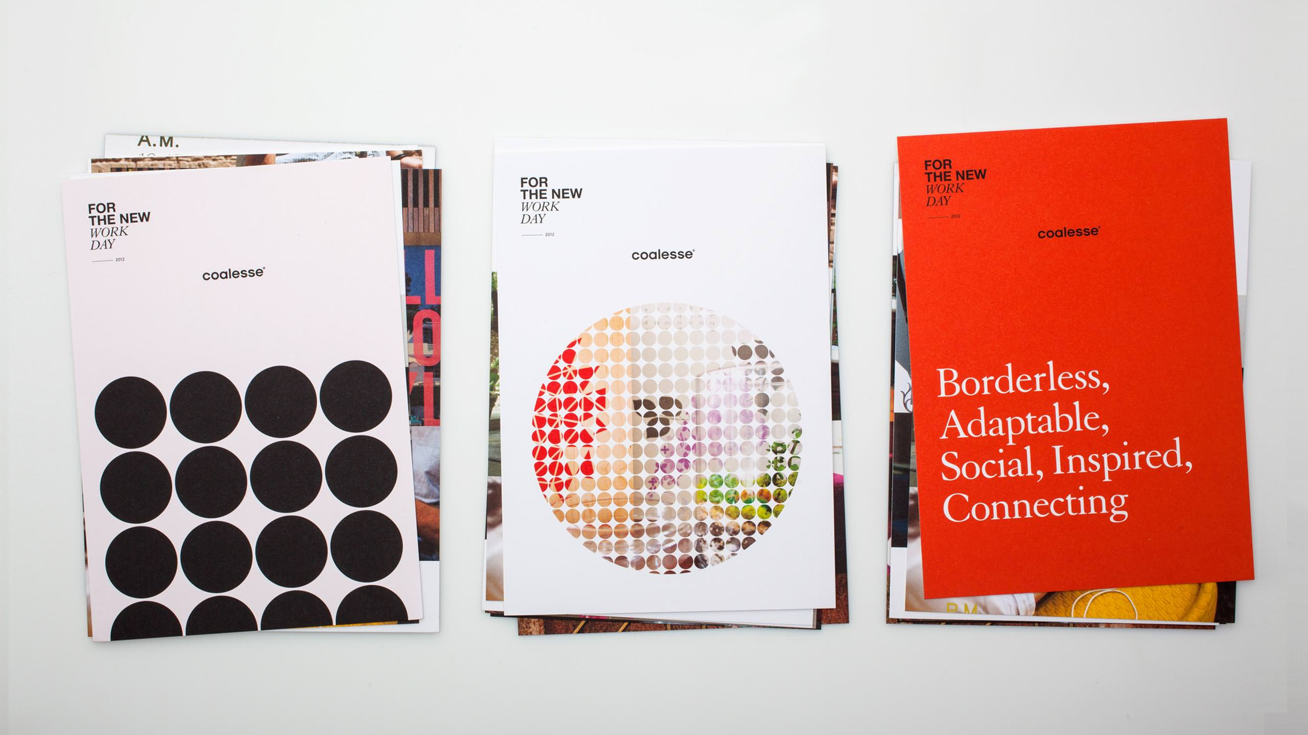Coalesse Brand Refresh collateral Card stacks