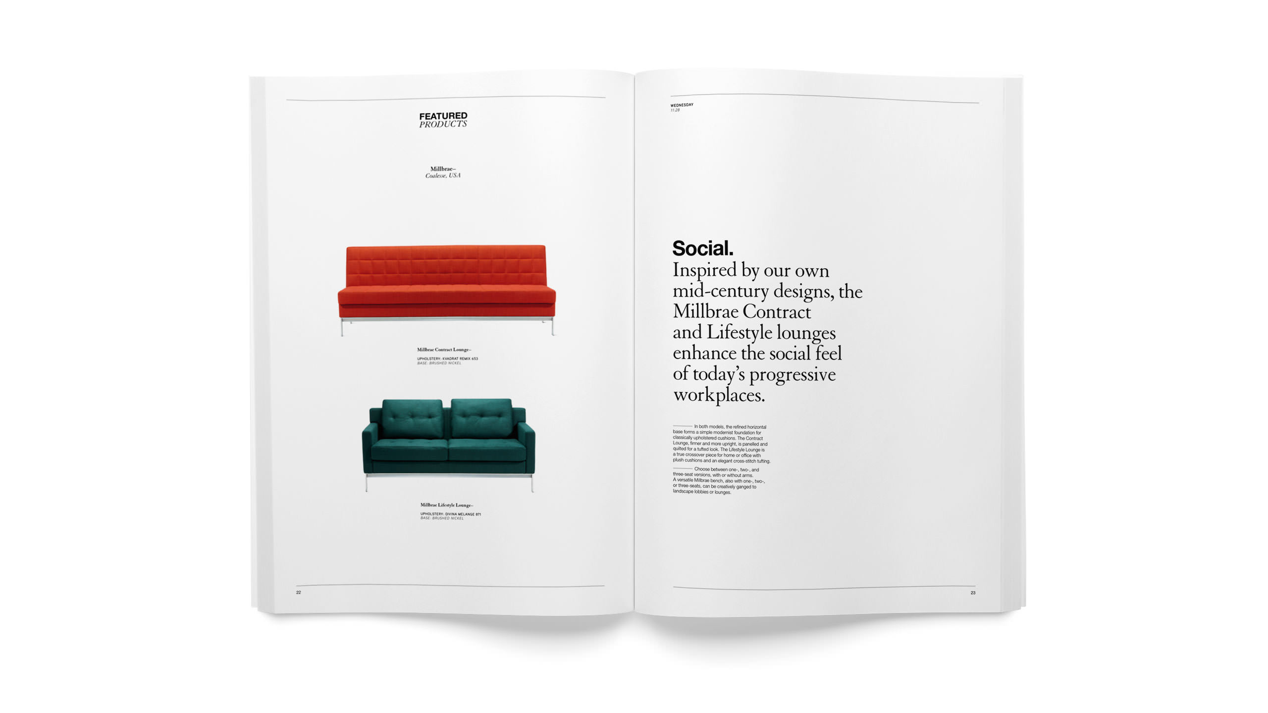 Coalesse Brand Refresh of Collateral Portfolio with featured products spread