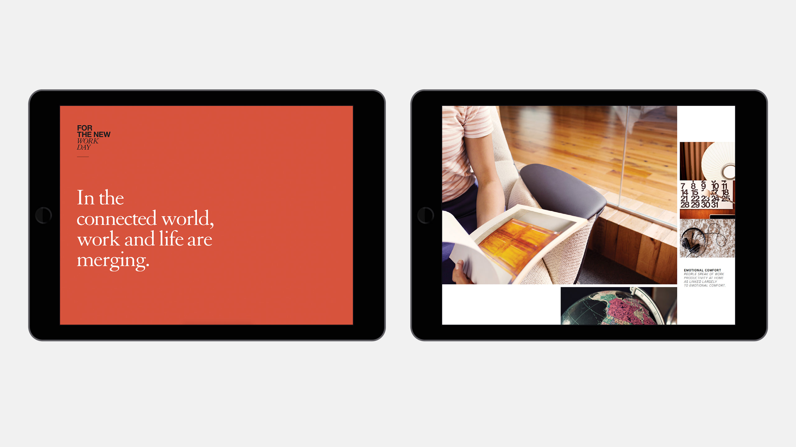 Coalesse Brand Refresh of Interactive Sales Tool on 2 iPads
