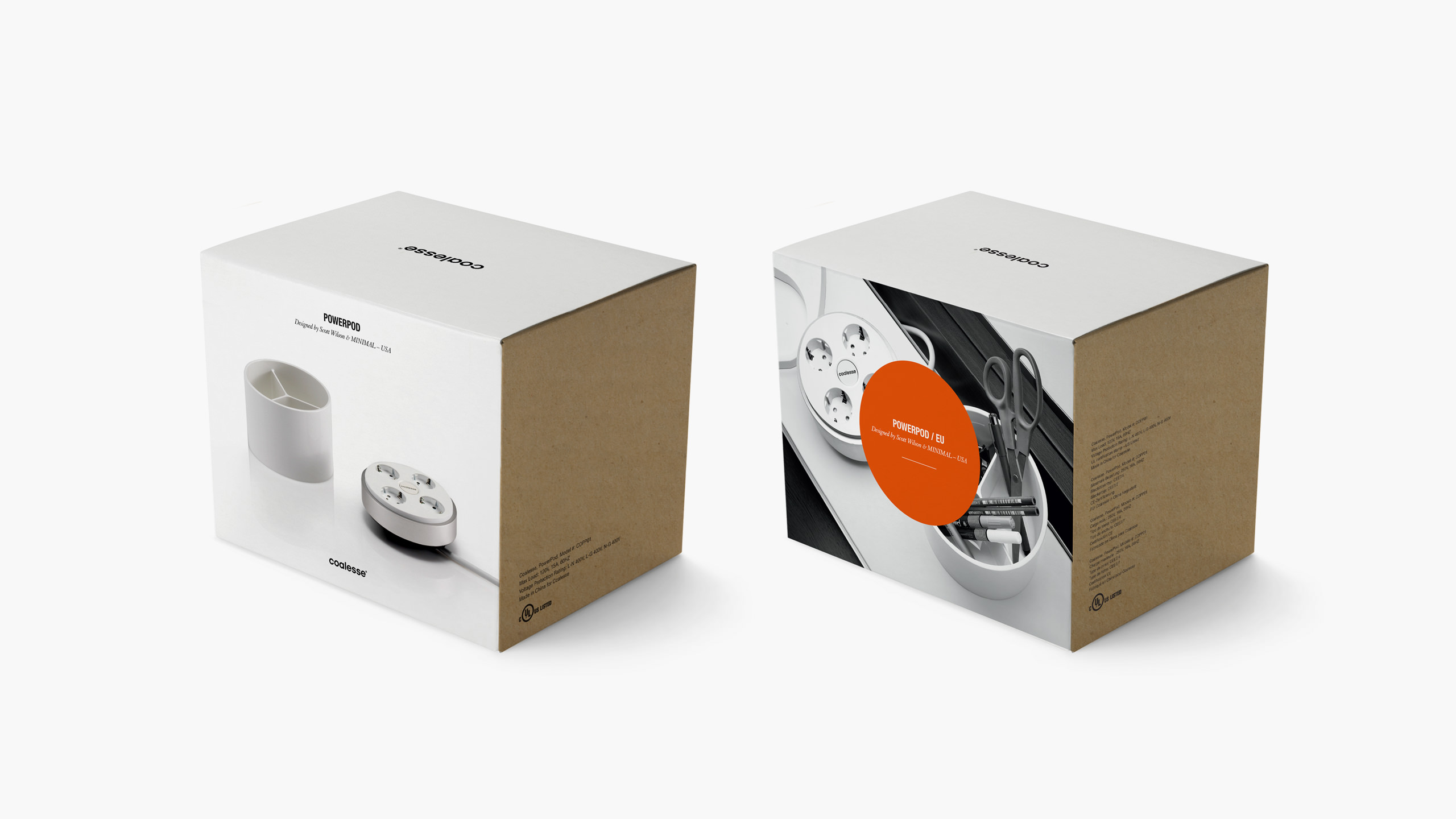 Coalesse Brand Refresh Packaging for Powerpod