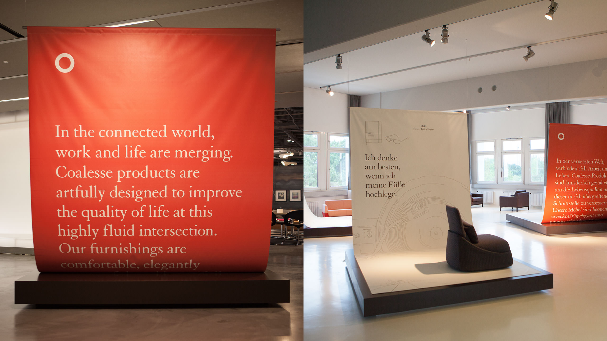 Coalesse Brand Refresh Photography of NeoCon Showroom signage