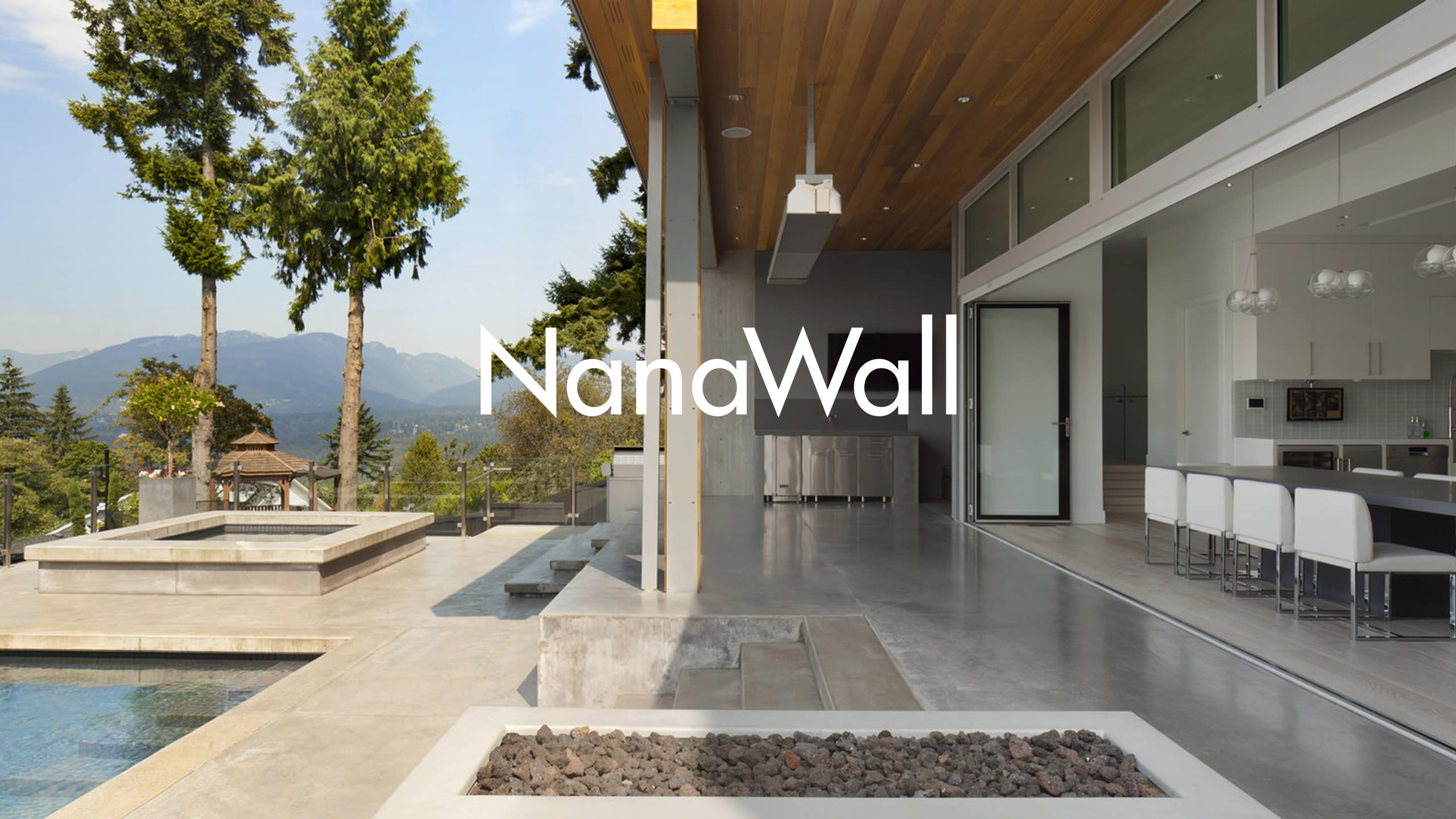 NanaWall Logo on Photo of the Burnaby Residence