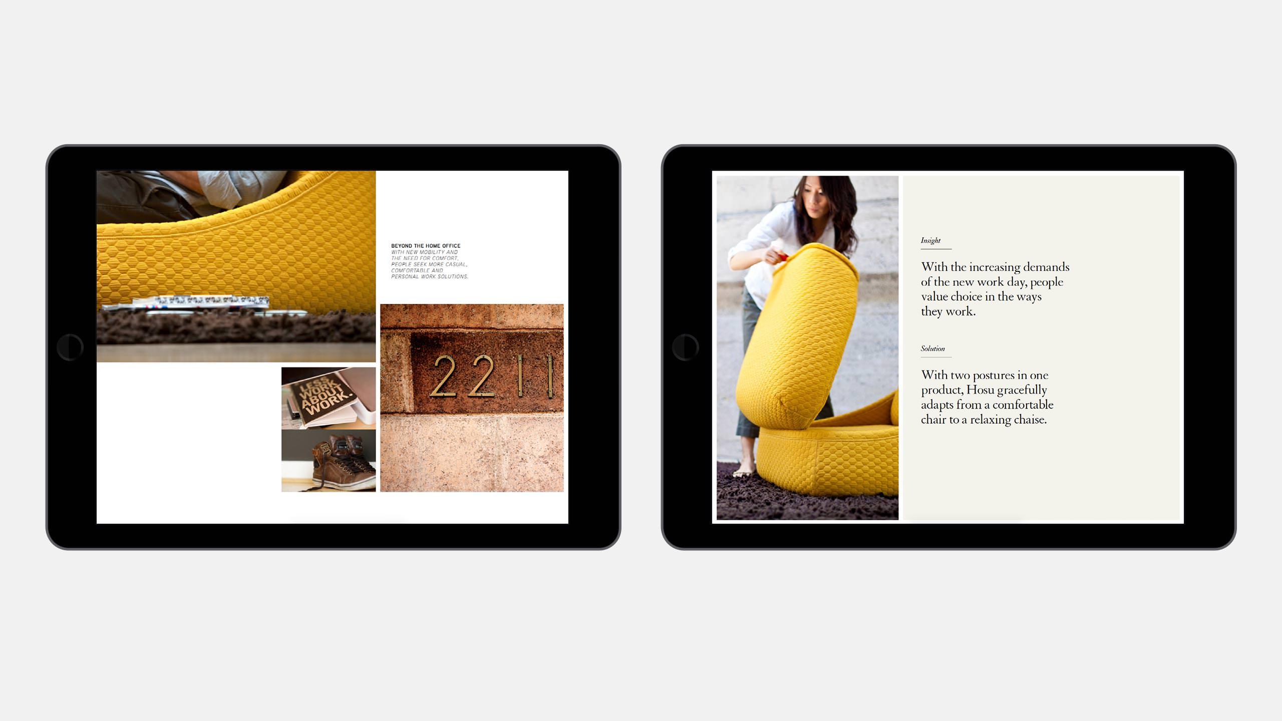 Coalesse Interactive Sales Tool of Hosu on iPad
