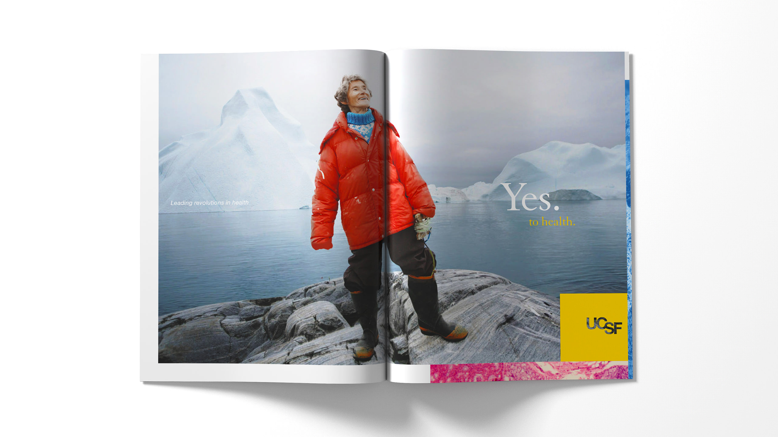 UCSF Brand Ad Magazine Spread - Yes to Health