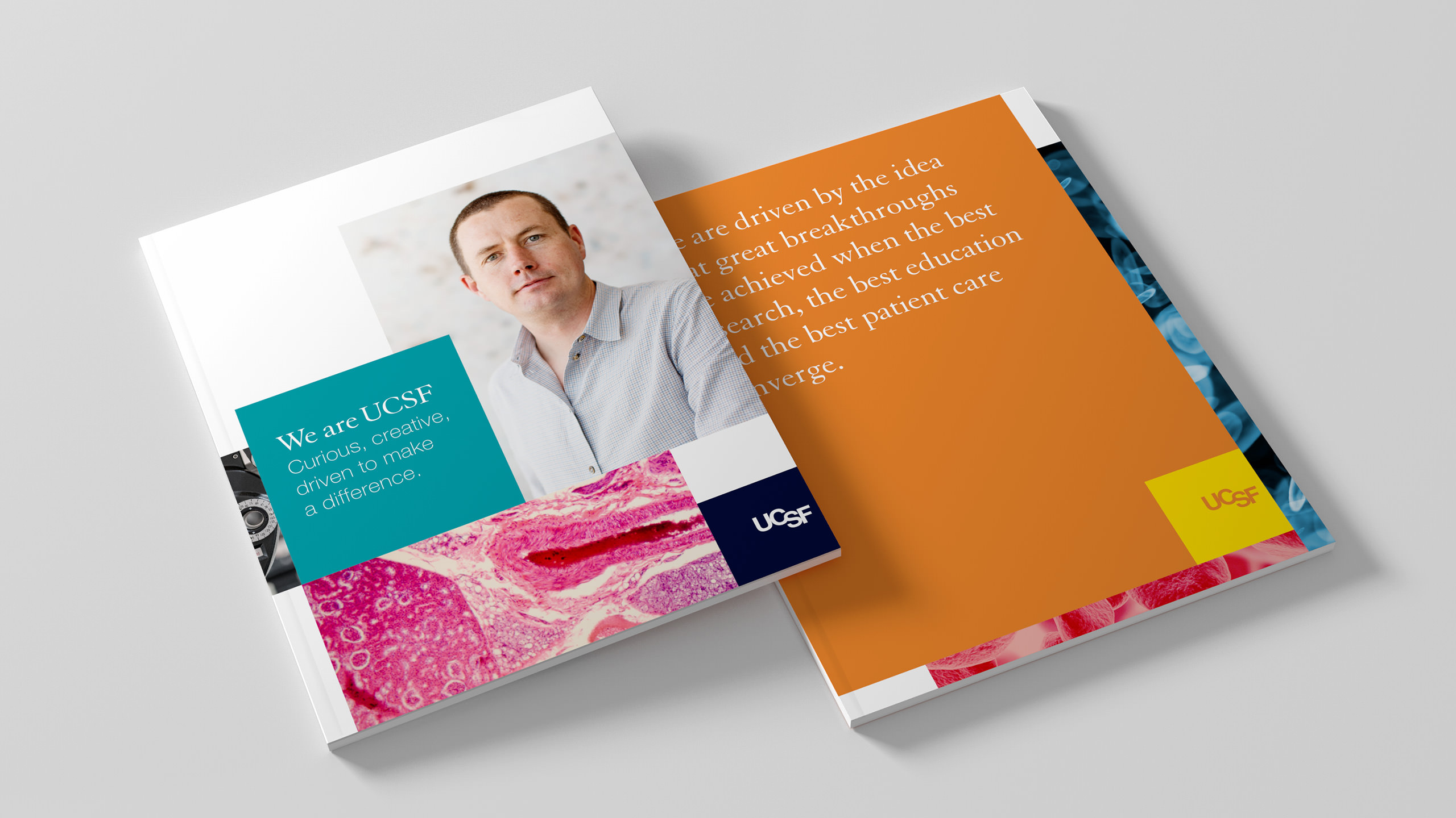 UCSF Brand Application Brochure Covers