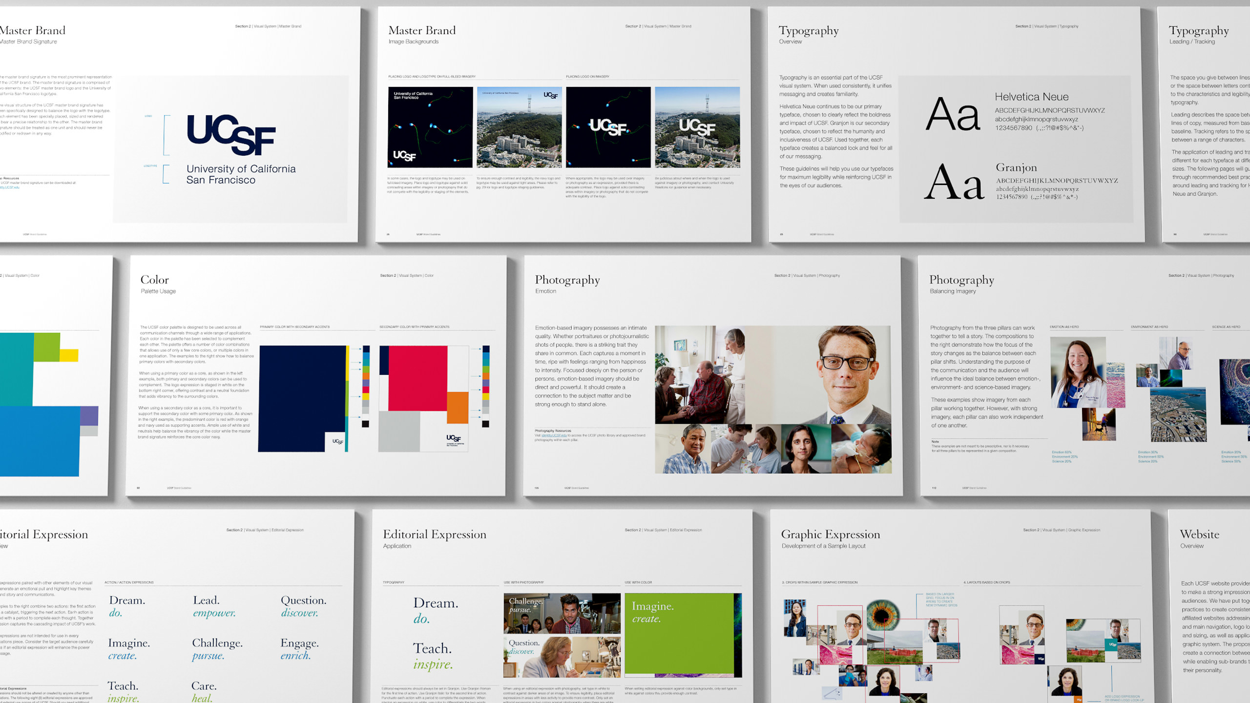 UCSF Brand Guidelines Pages