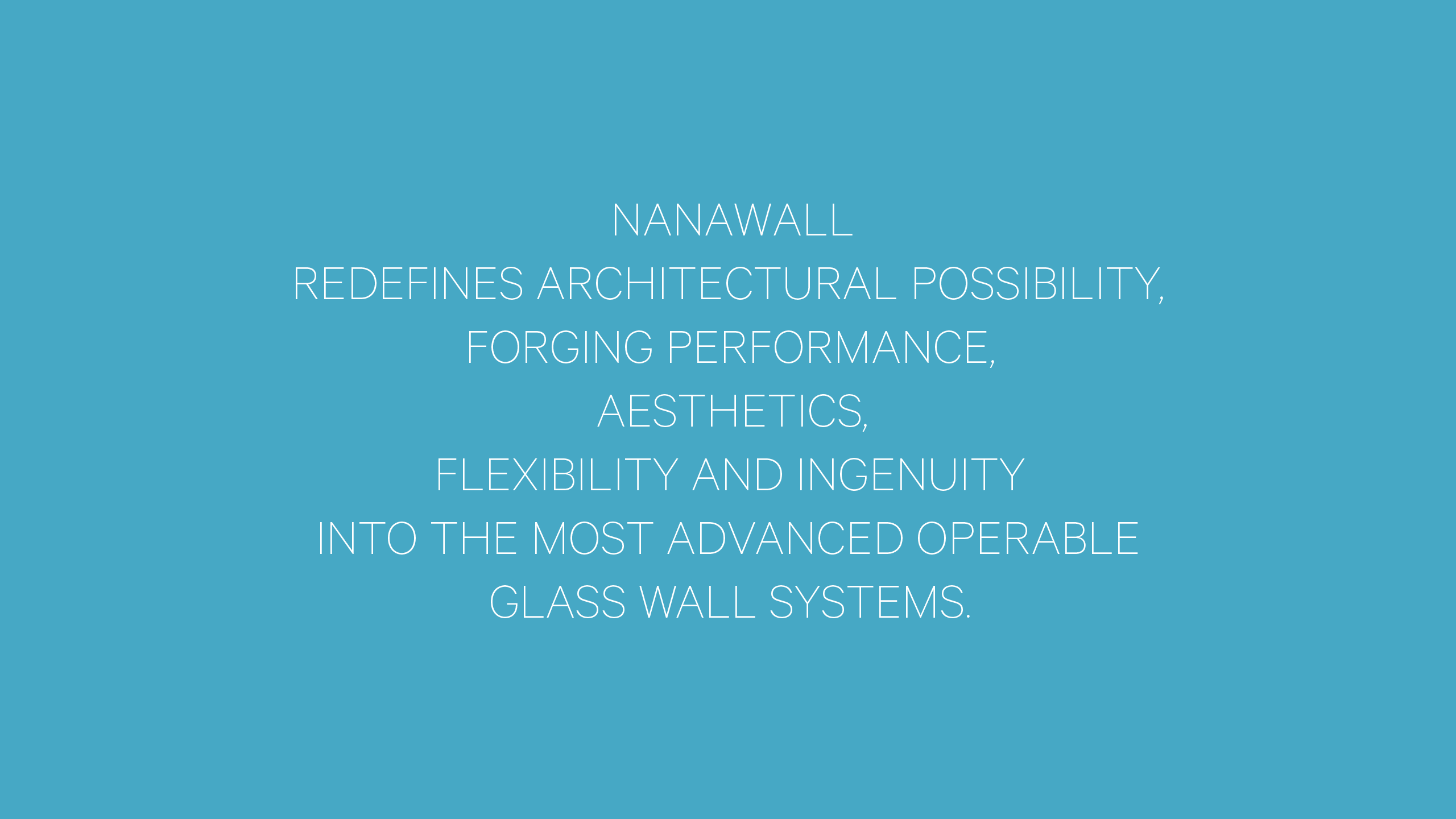 NanaWall Brand Strategy Statement