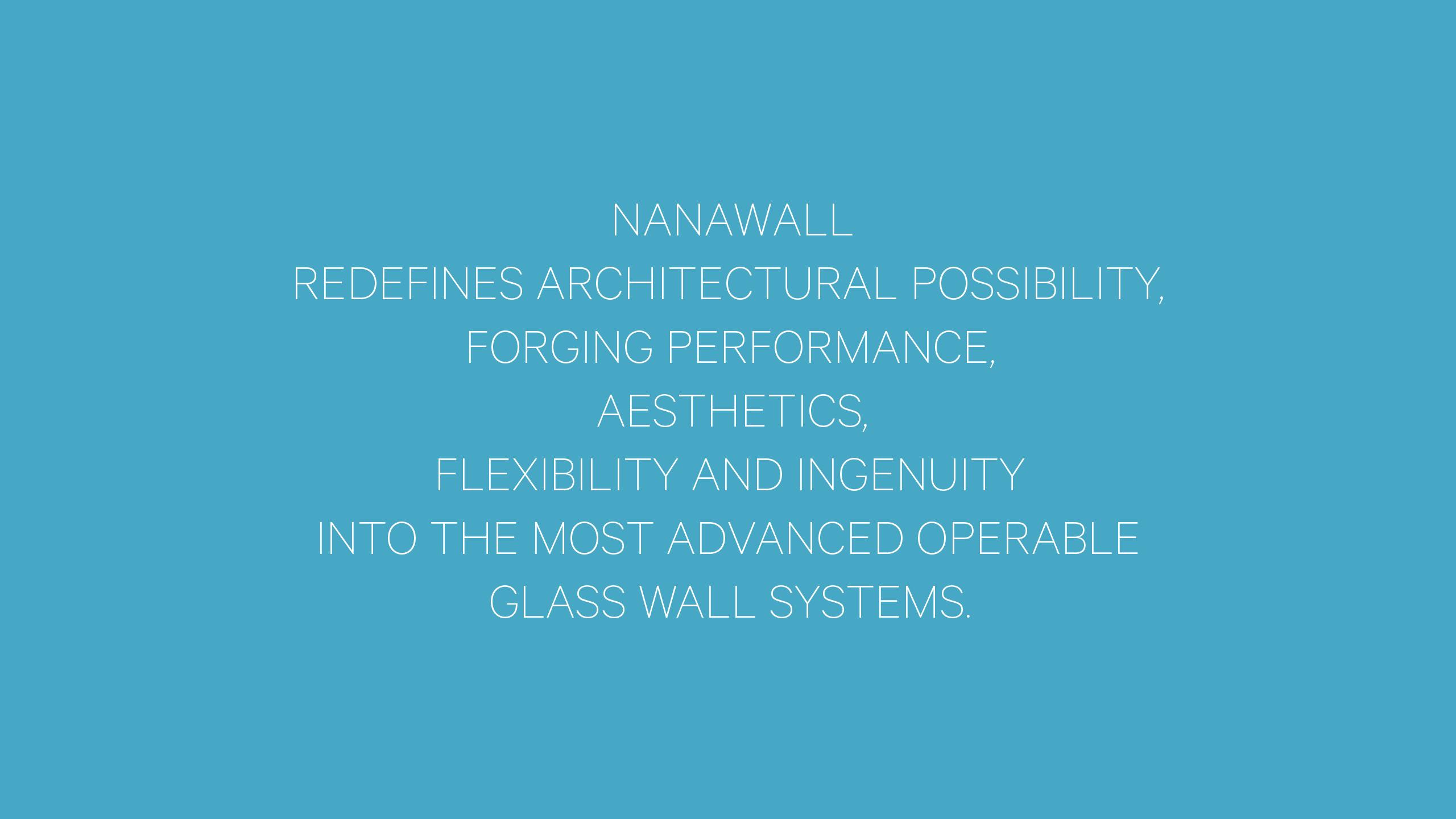 NanaWall Brand Strategy Statement