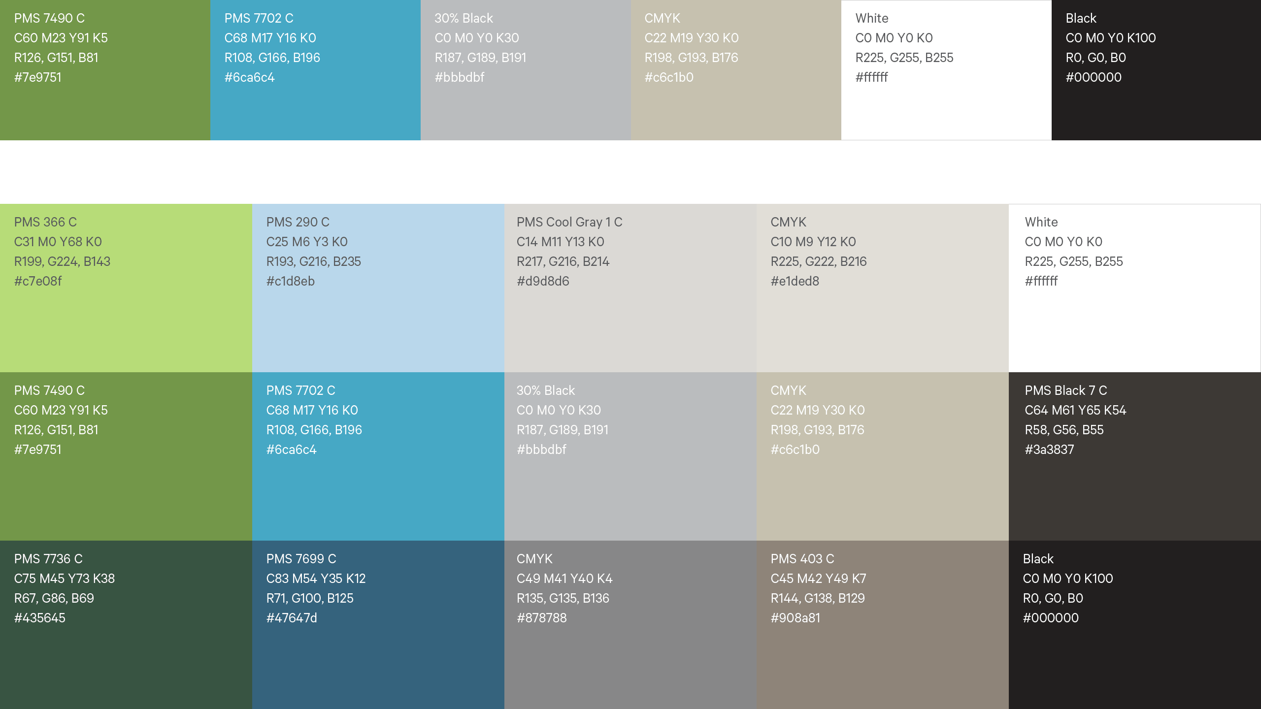 NanaWall Brand System Color Palette