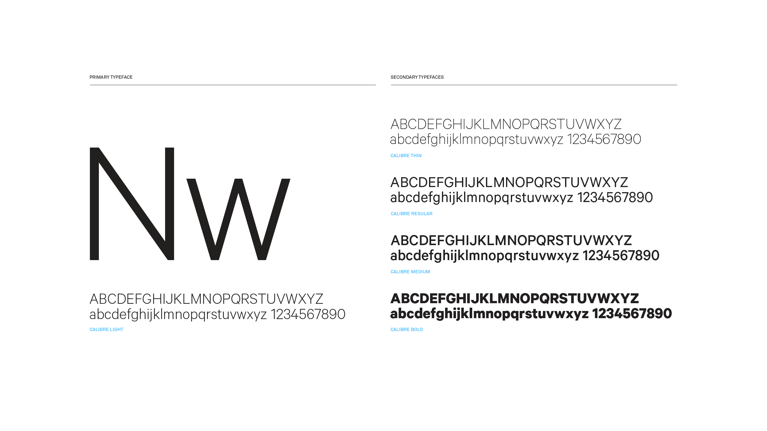 NanaWall Brand System Typefaces