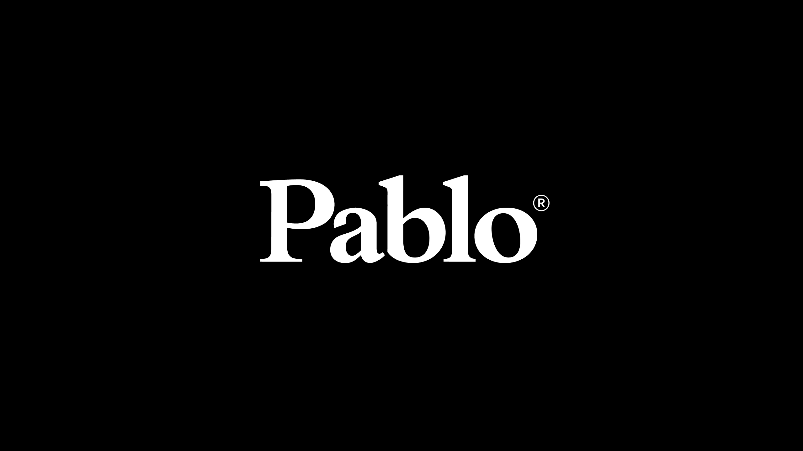Pablo Designs White Logo on Black Background