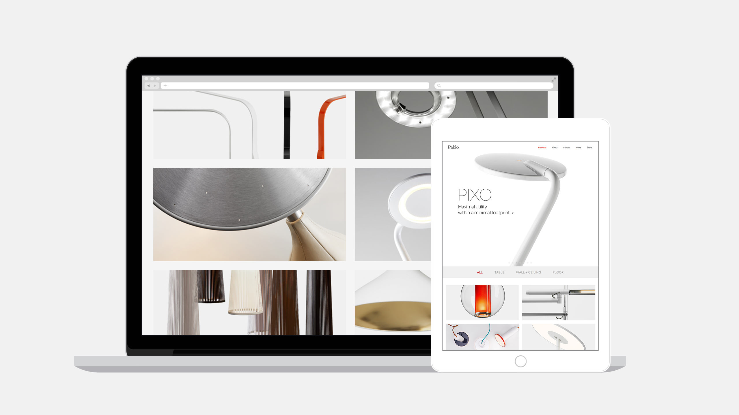 Pablo Designs Website Homepage in device