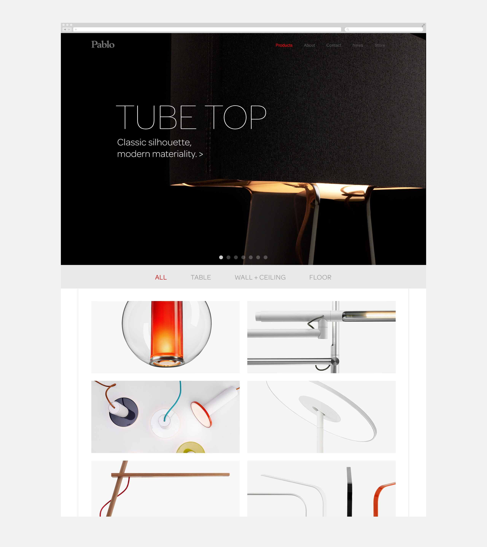 Pablo Designs Website Home Page - Tubetop