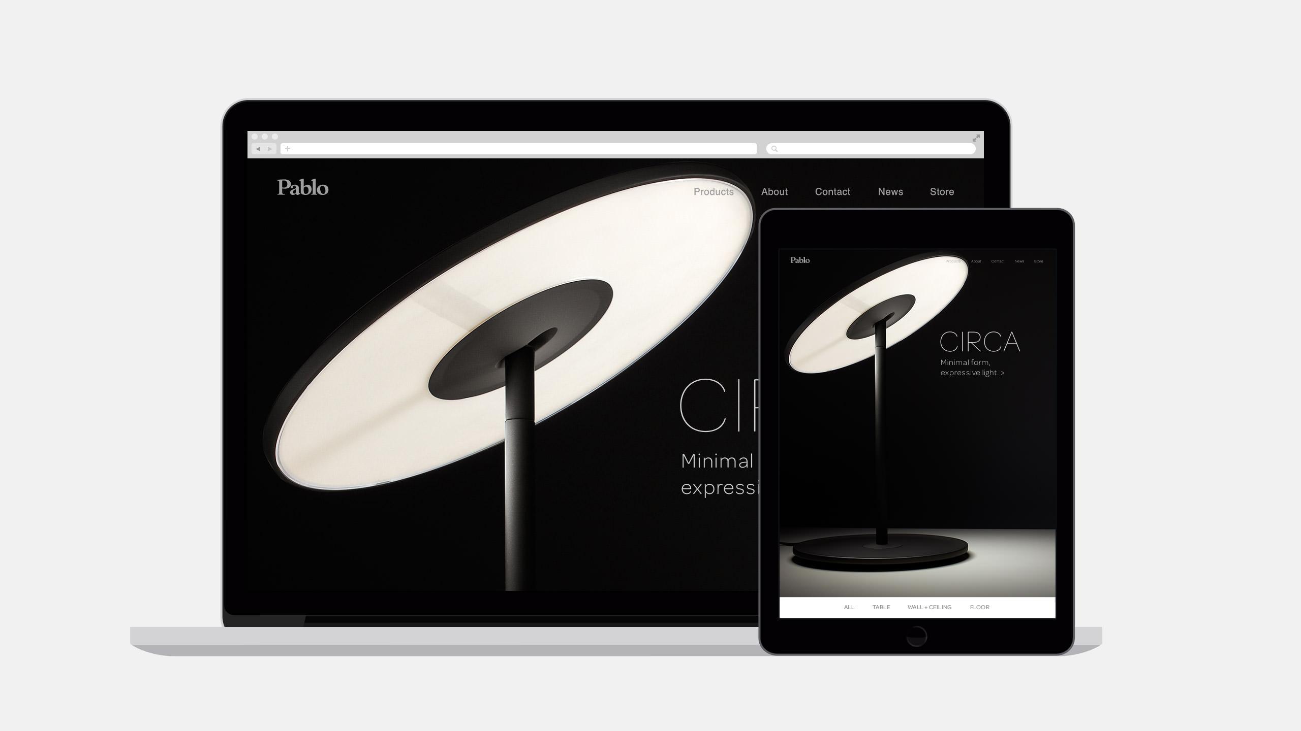 Pablo Designs Website Homepage - Circa