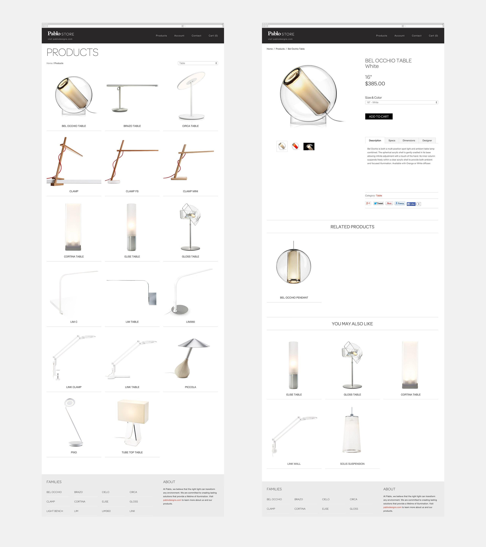 Pablo Designs E-Commerce Website - Product Pages Bel Occhio