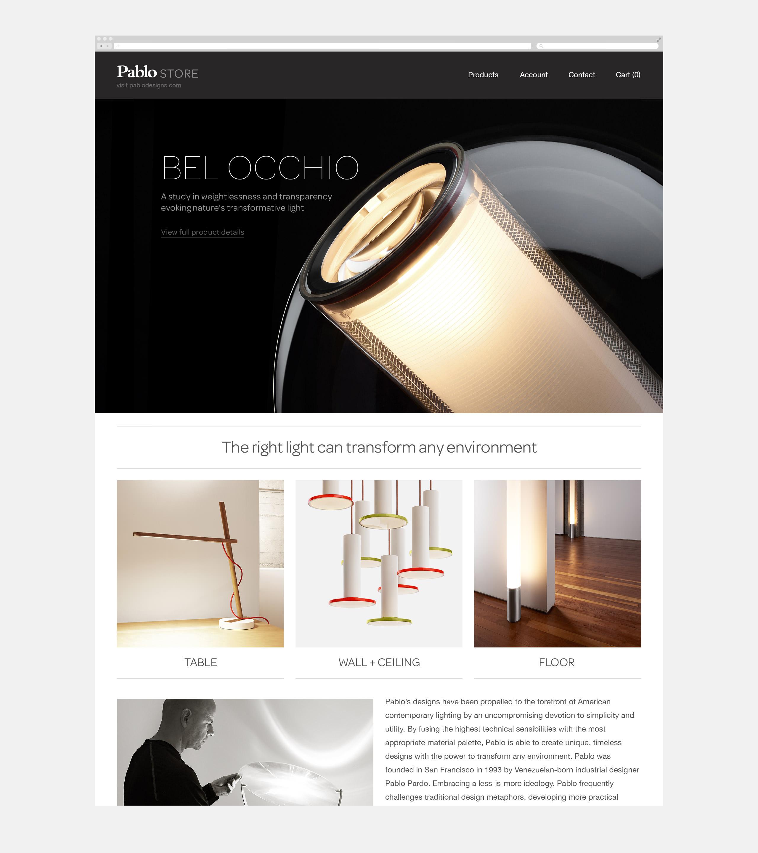 Pablo Designs E-Commerce Website - Bel Occhio