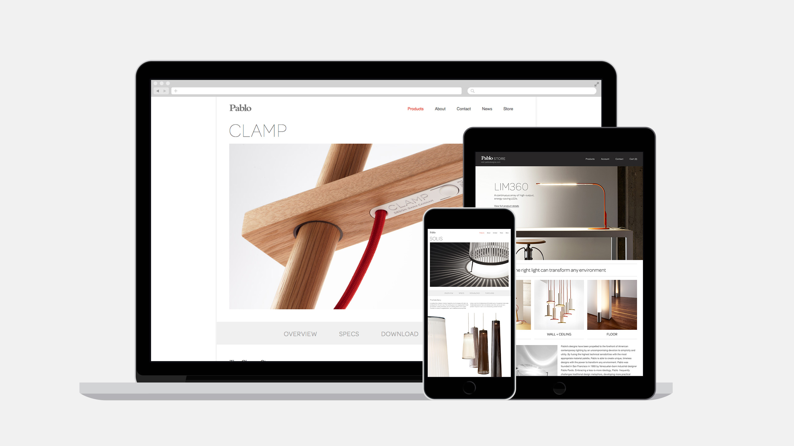 Pablo Designs Responsive Website in Device
