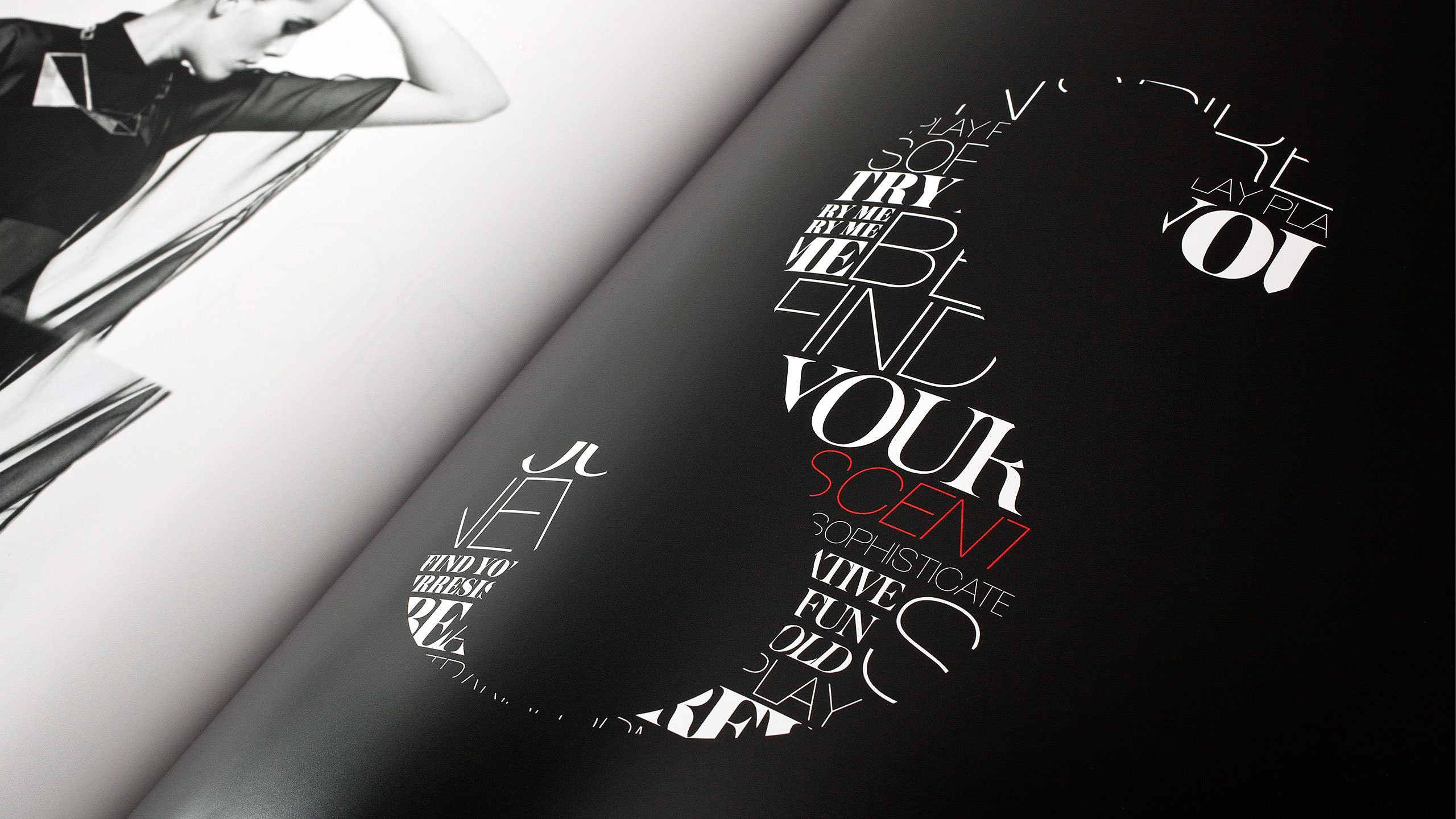 Sephora Retail Book Spread on Typography