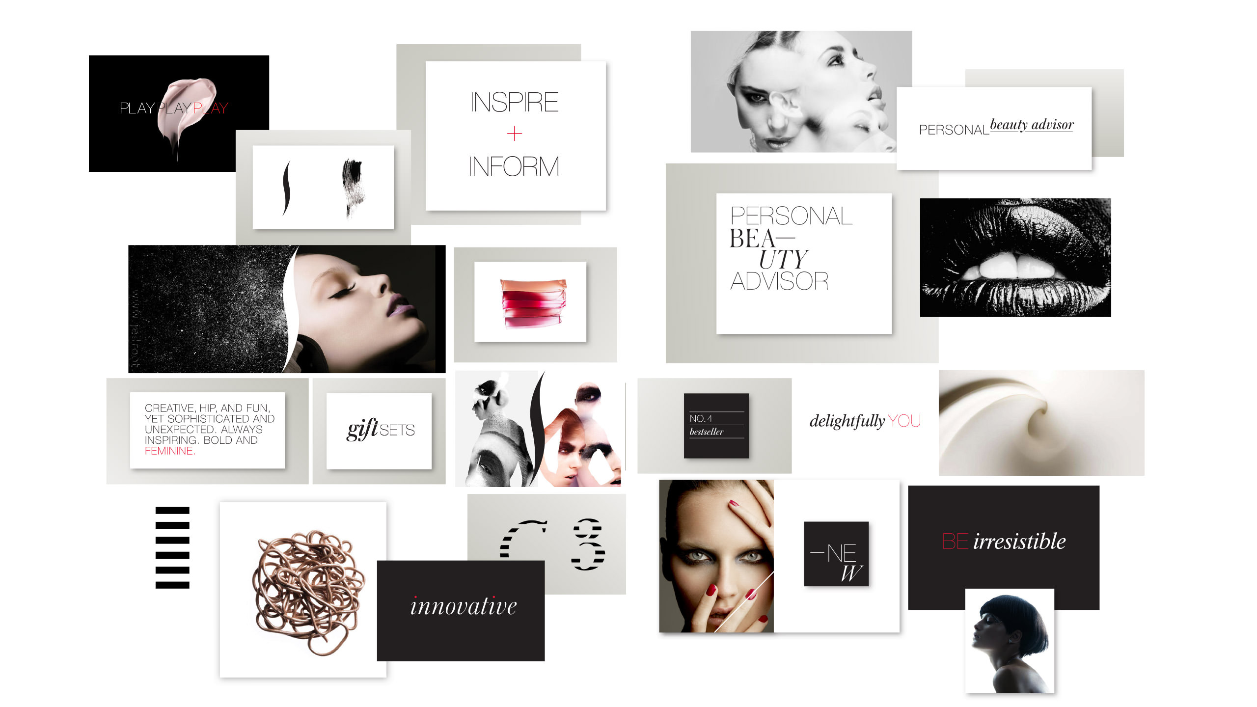 Sephora Retail Brand Collage of Inspire, Inform Campaign