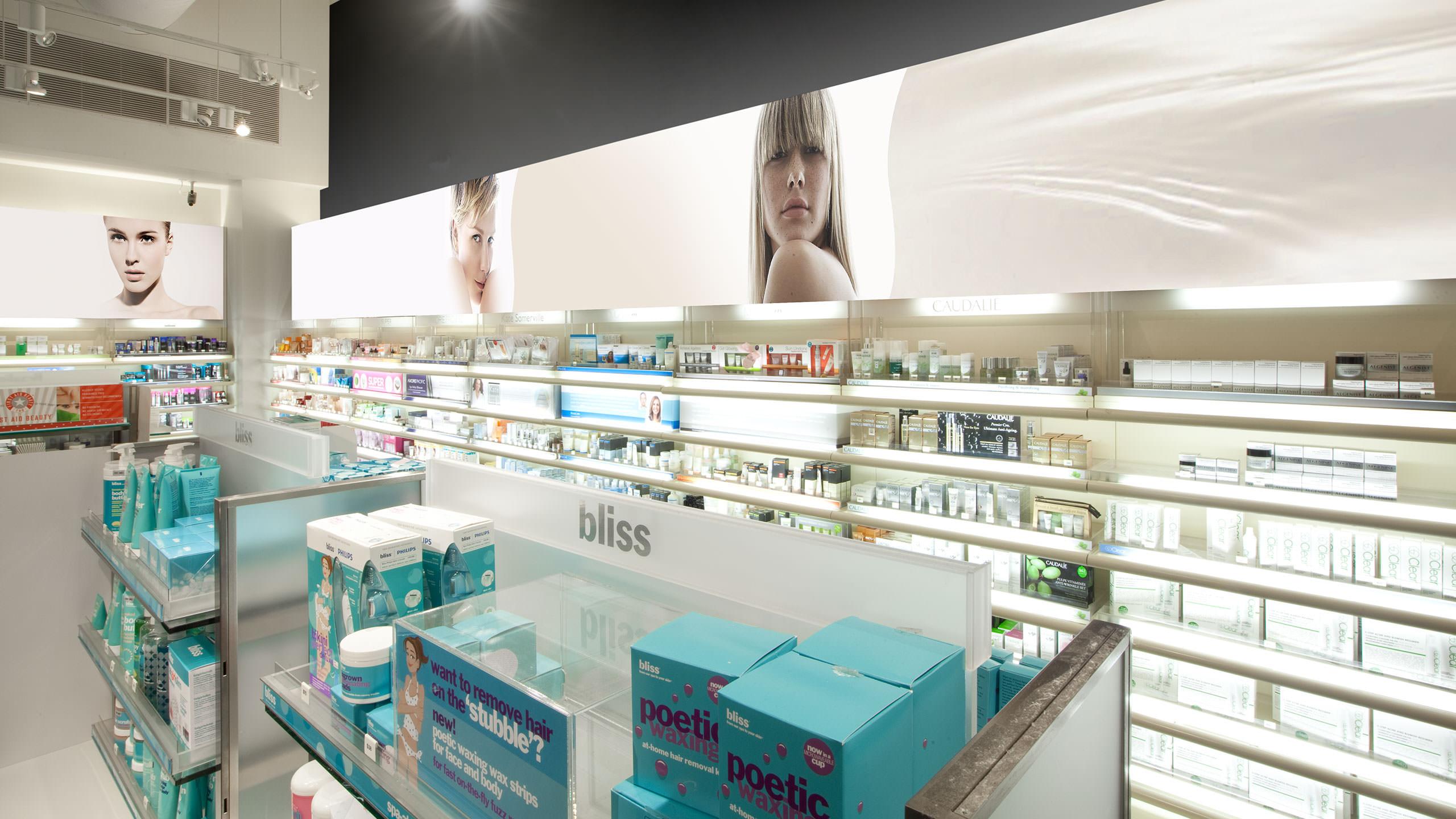 Sephora Retail Store - Interior space displaying skin care