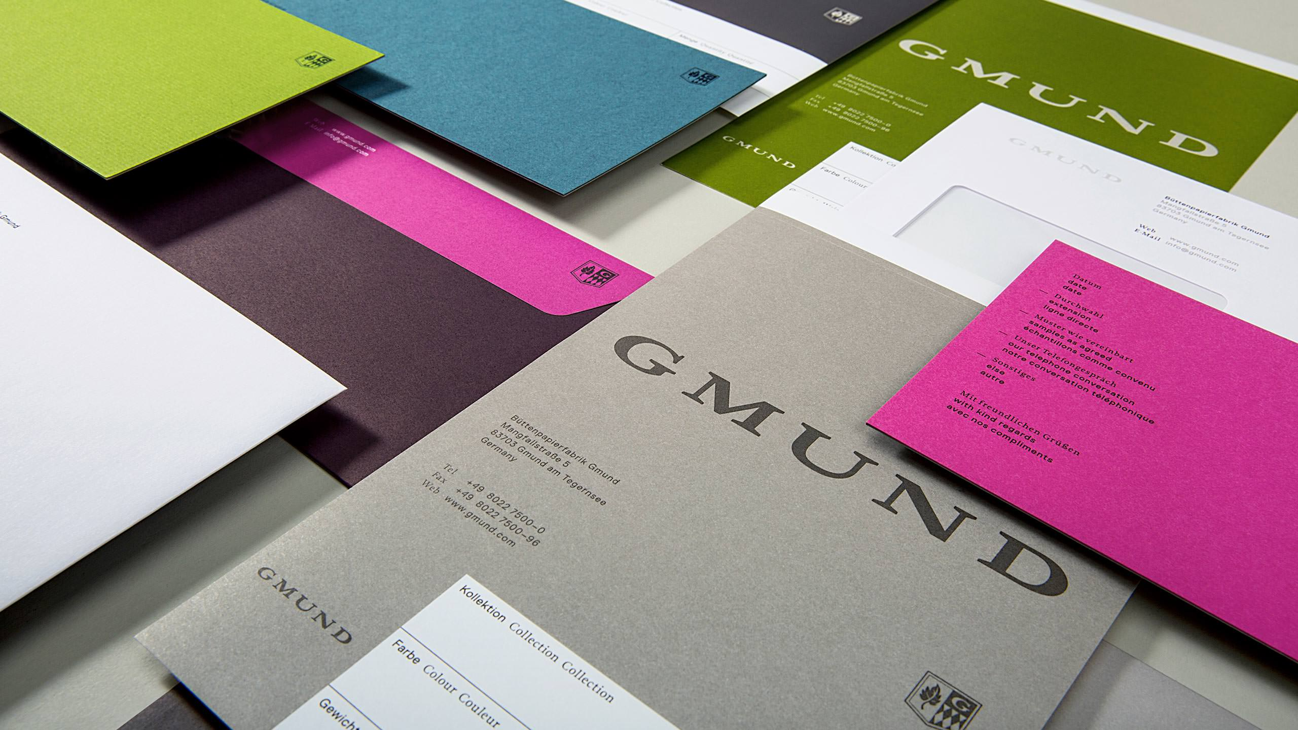 Gmund Brand Refresh Business System Collateral