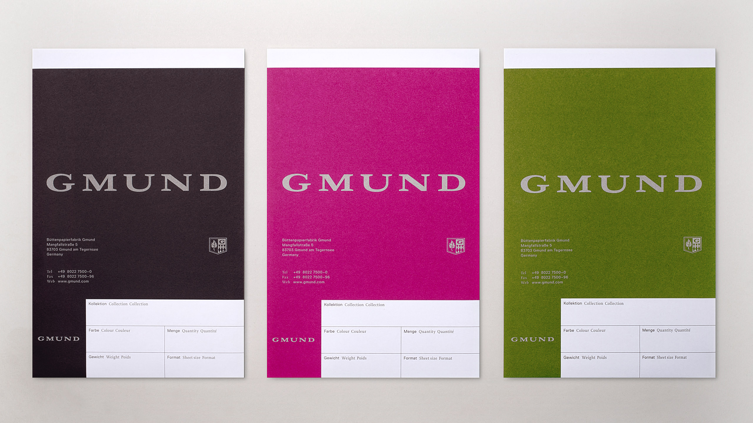 Gmund Brand Refresh Swatchbooks
