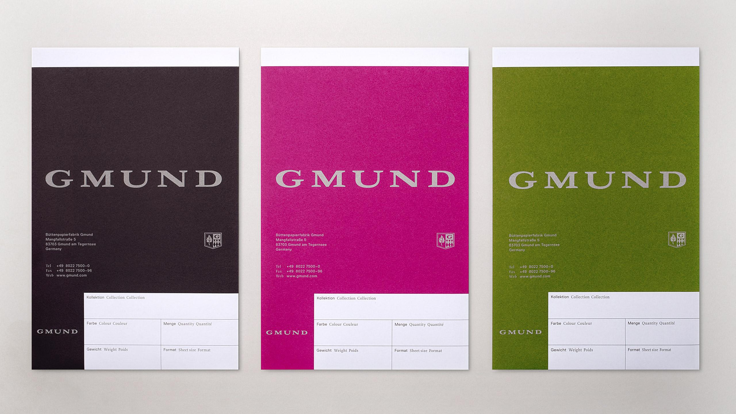 Gmund Brand Refresh Swatchbooks