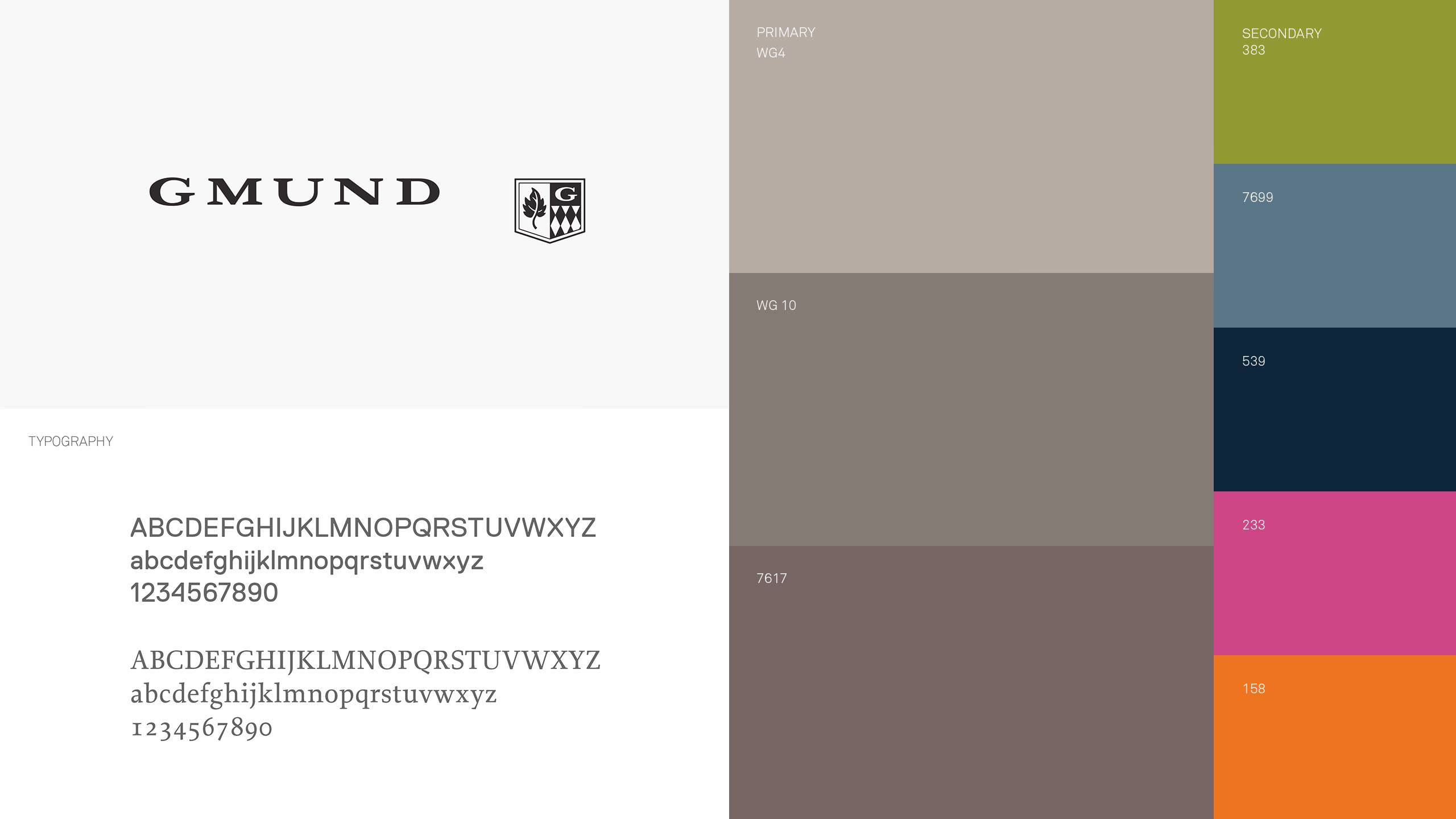 Gmund Brand Refresh Color and Logo System