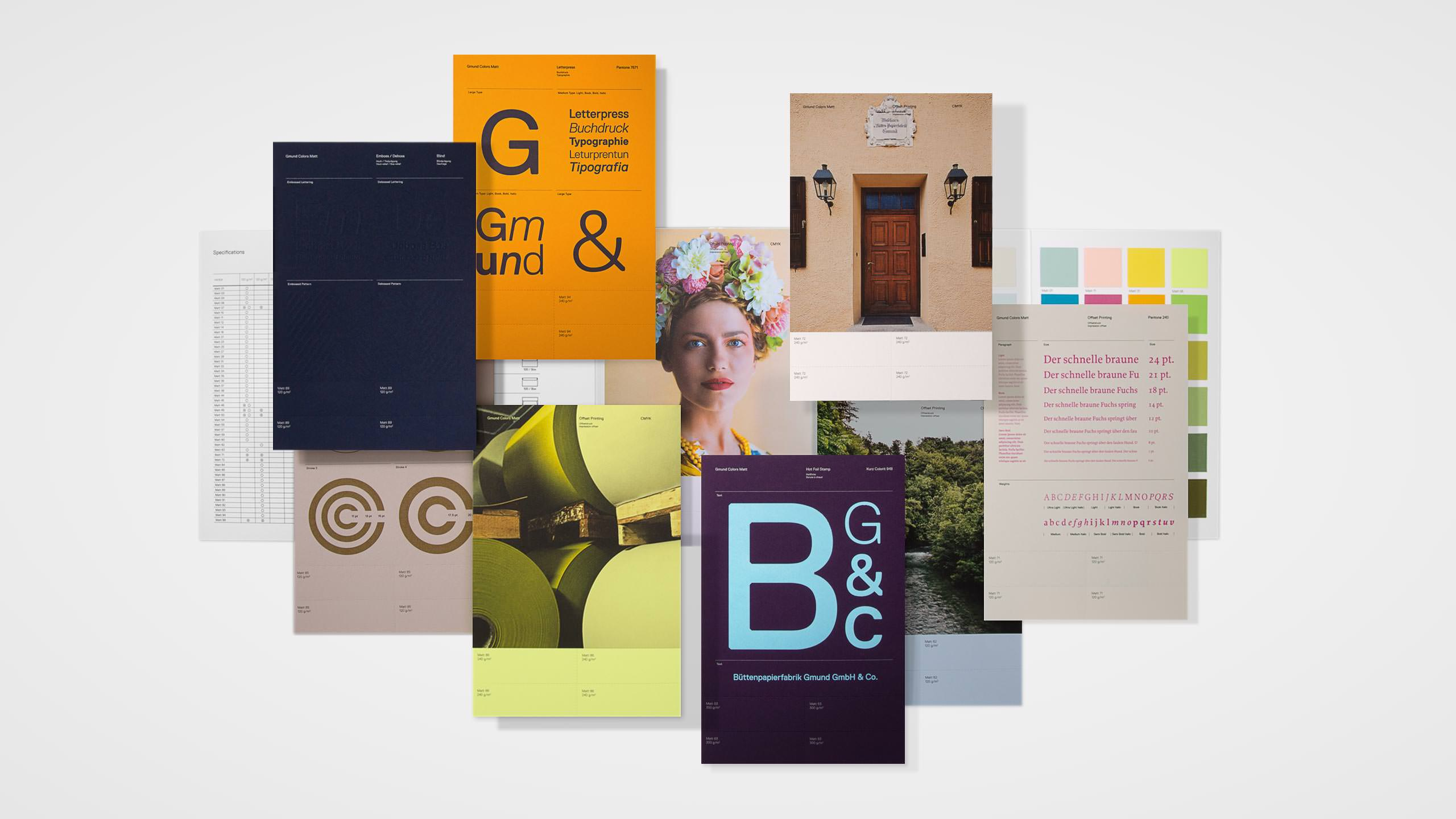 Gmund Colors Campaign - Matte swatch books collateral
