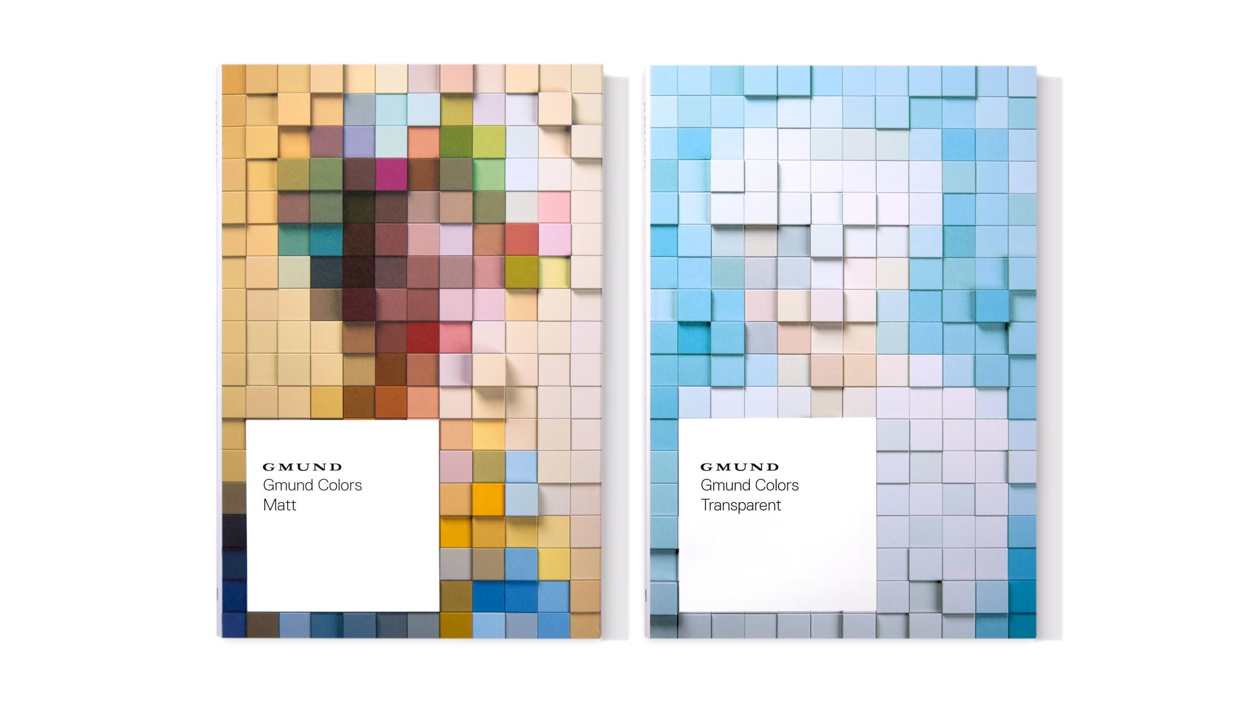 Gmund Colors Campaign - Matte transparent swatch books