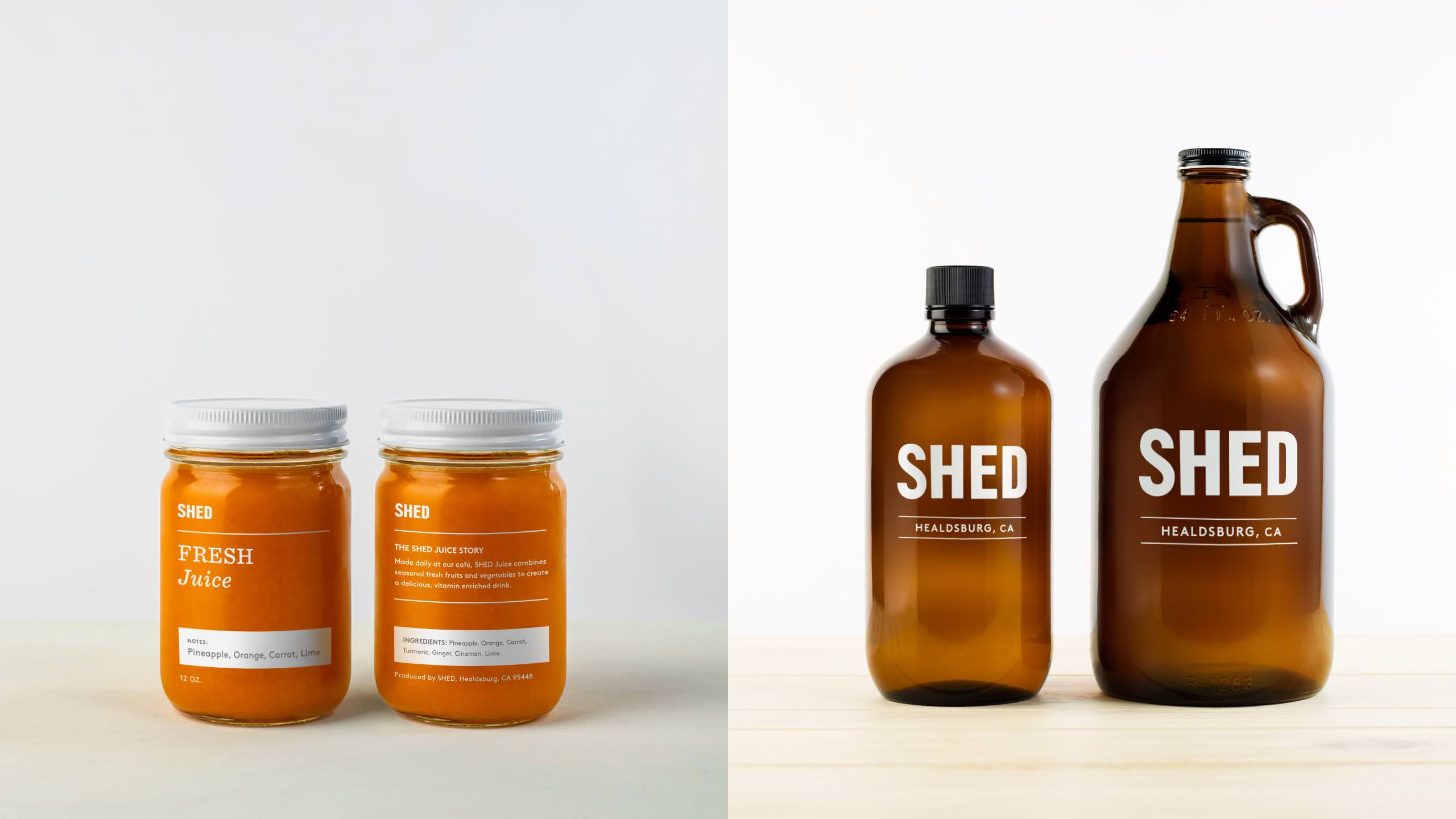 SHED Brand Packaging of Jars and Growlers