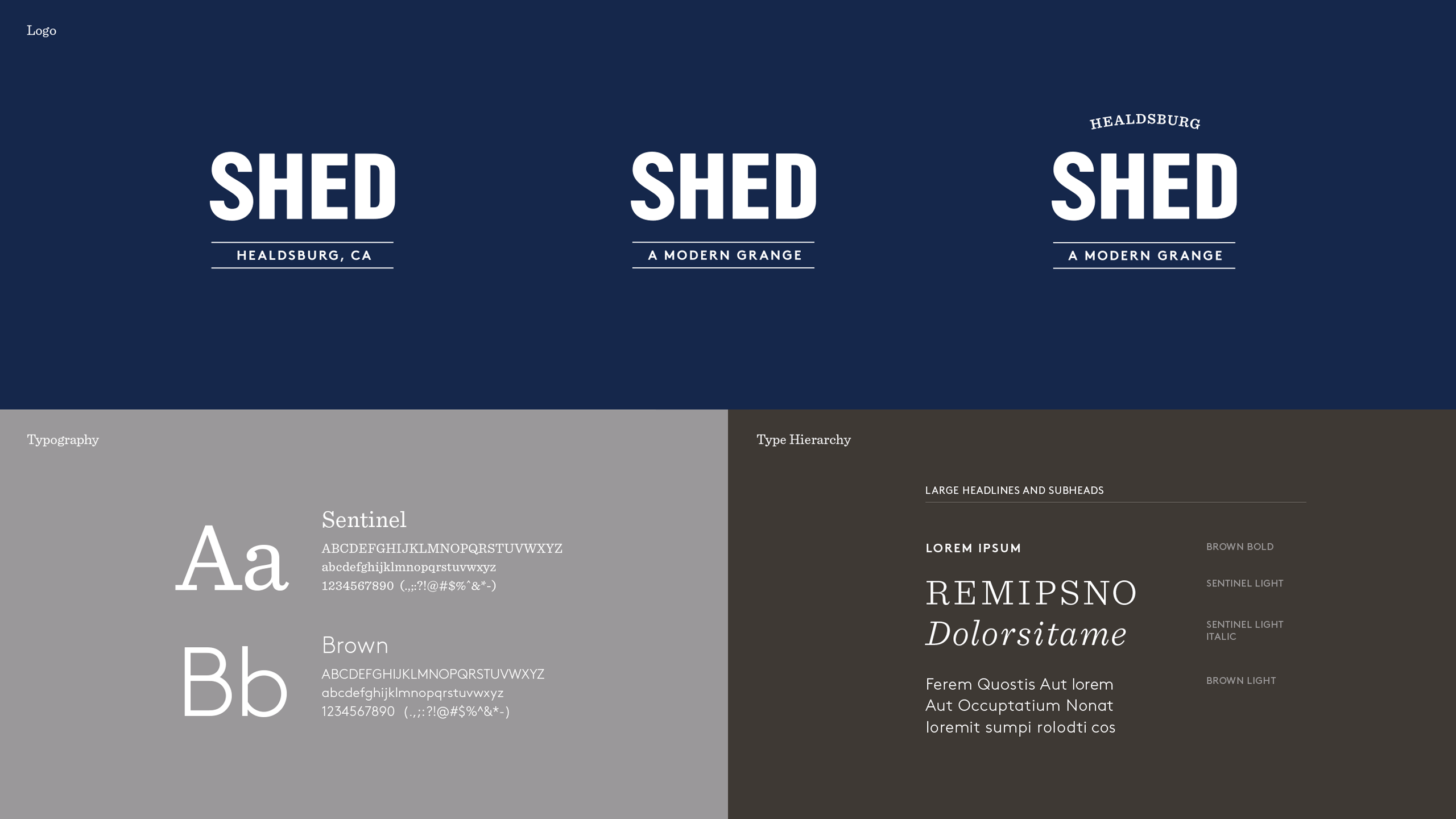 SHED Brand Refresh Identity System