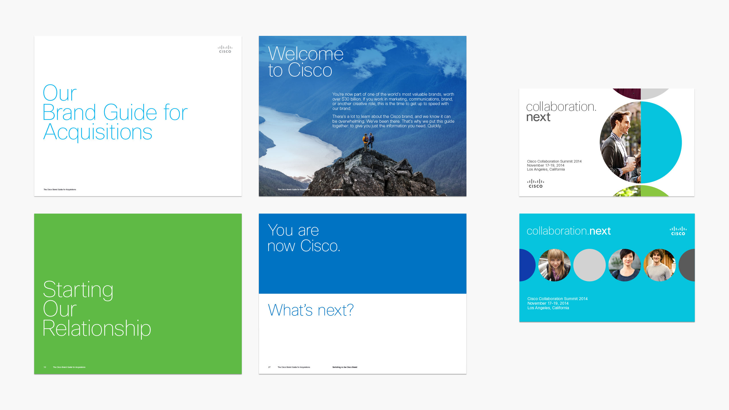 pages from Cisco Brand Guide for Acquisitions and Collaboration Summit