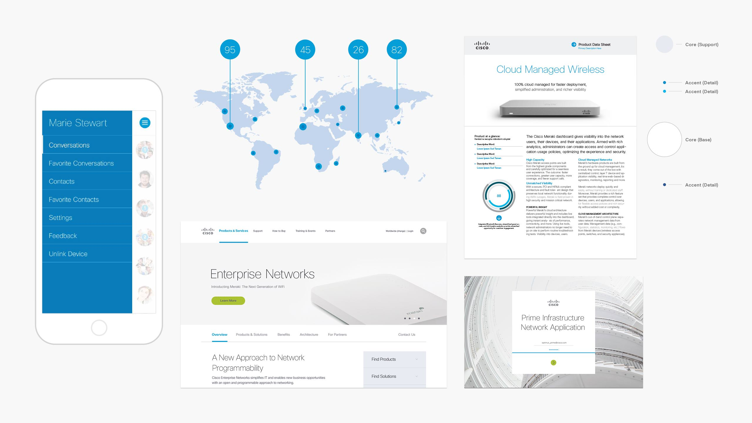 Cisco brand app screen meraki web page prime splash product white paper