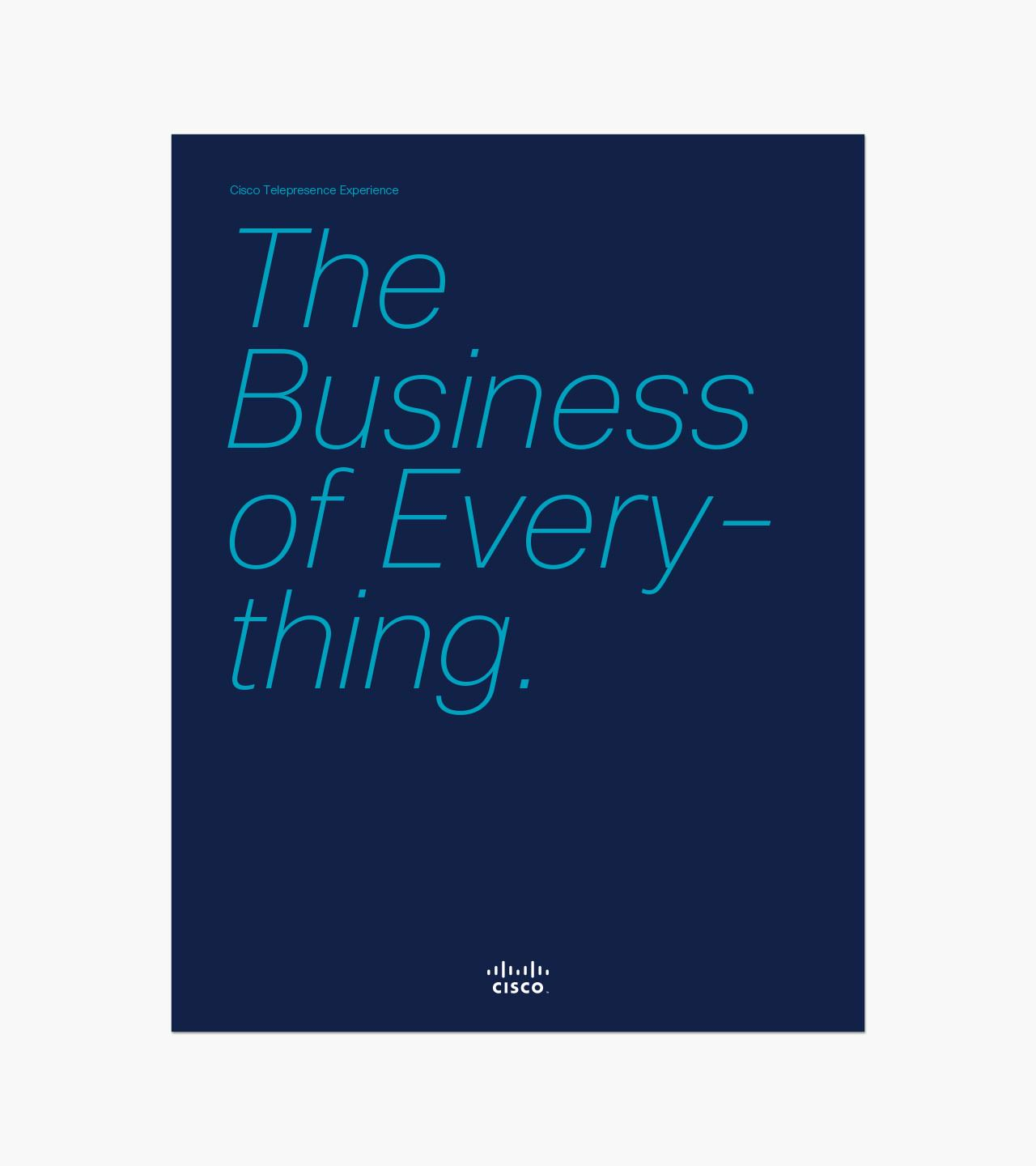 Cisco brochure cover titled The Business of Everything