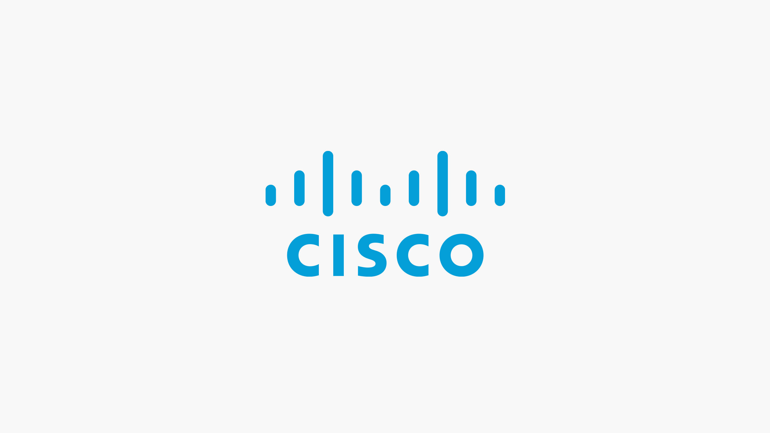 blue Cisco logo on light gray background