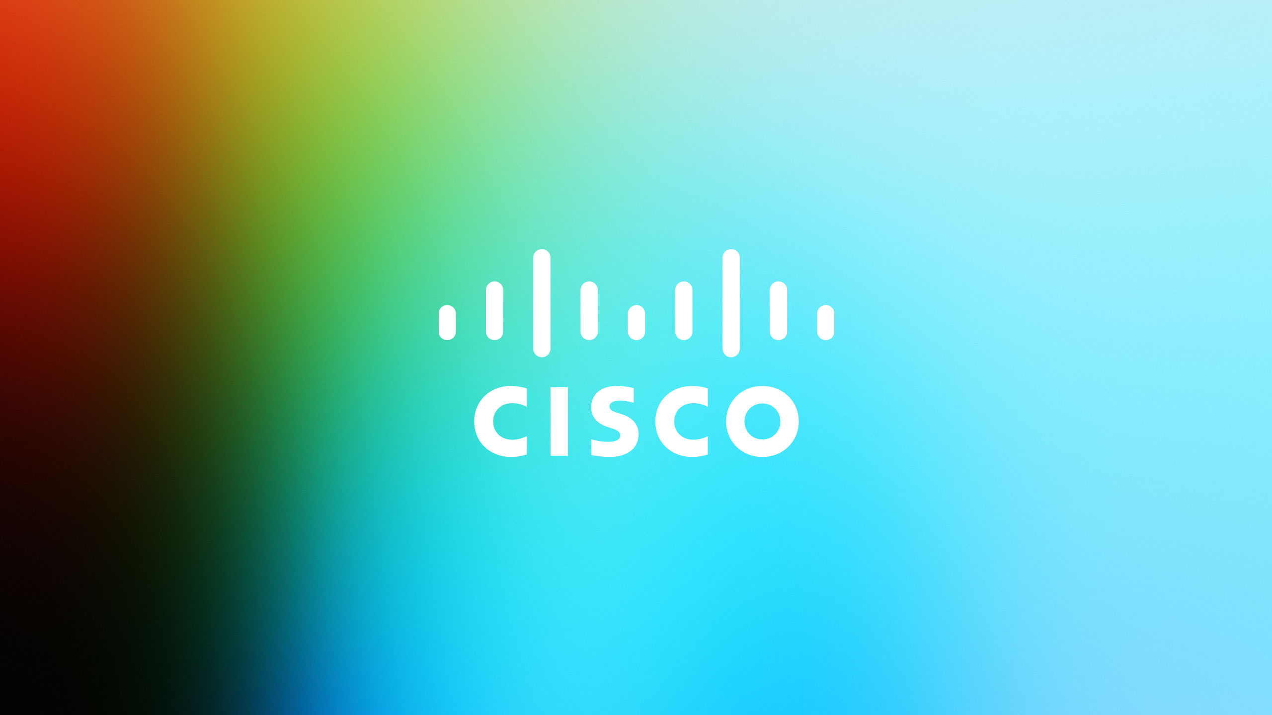 white Cisco logo on gradient texture background