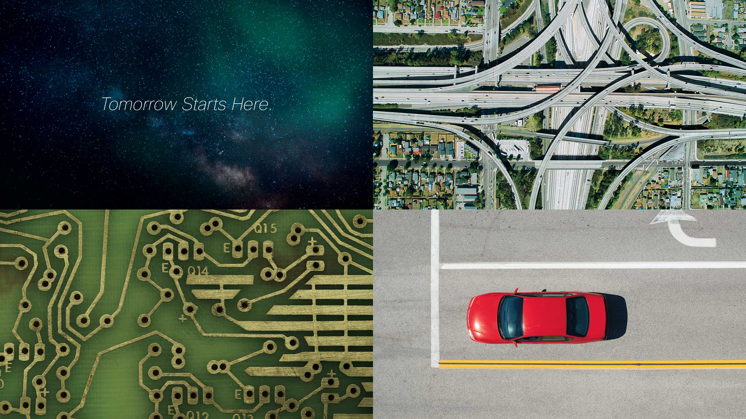 Grid of 4 Cisco Internet of Everything brand campaign images